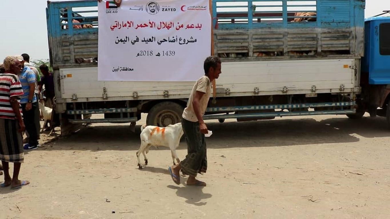 أكثر من نصف مليون يمني يستفيدون من أضاحي الهلال .  3