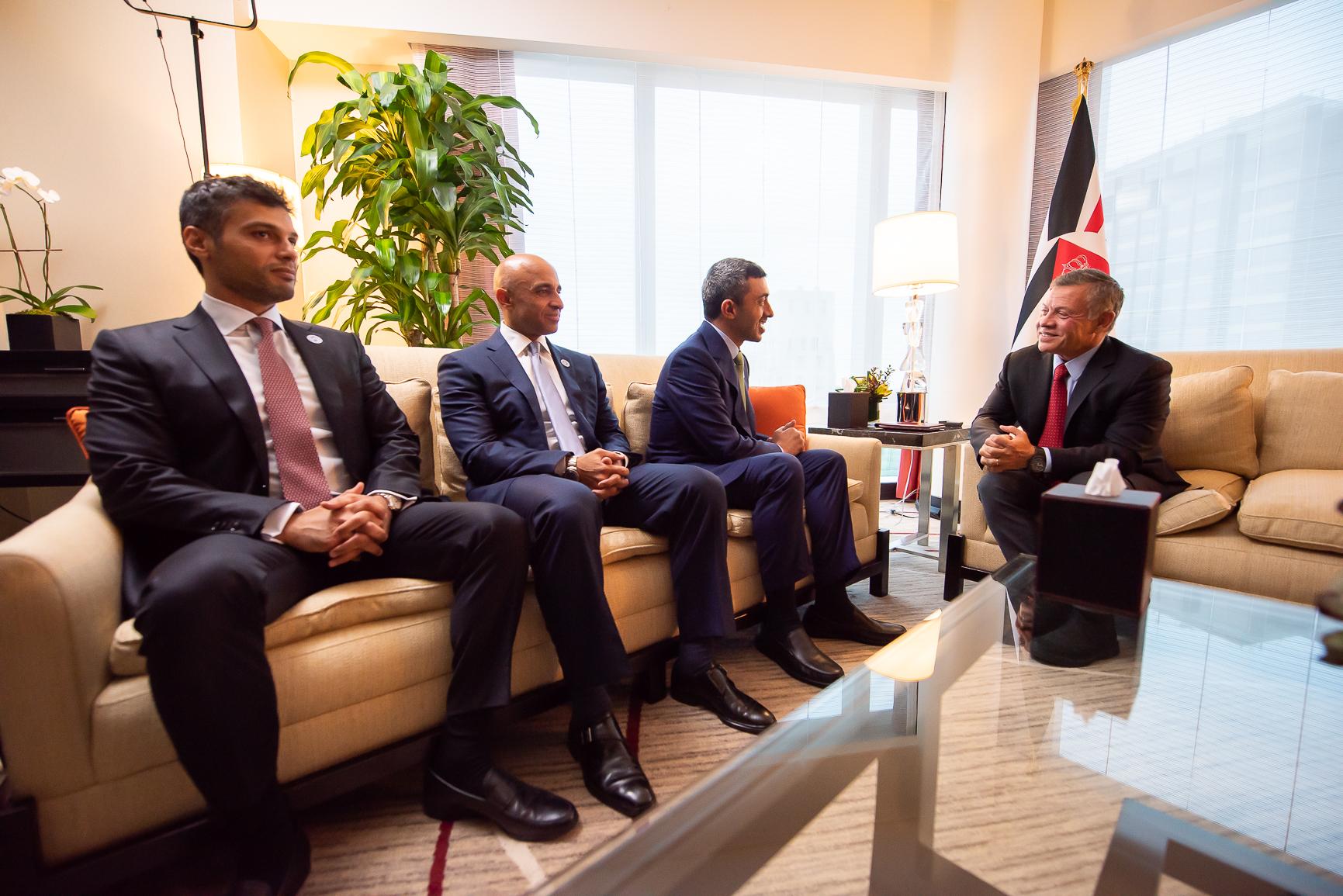 ملك الأردن يستقبل عبدالله بن زايد في نيويورك 5