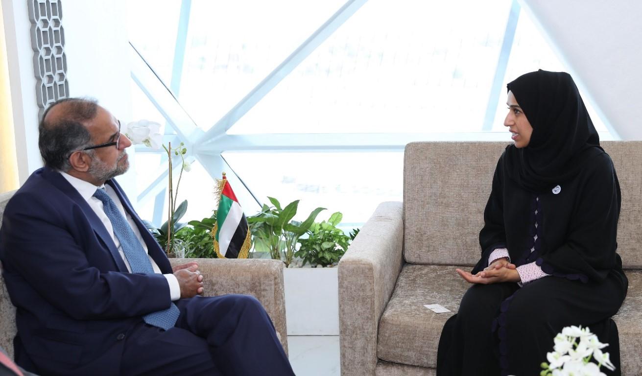 حصة بوحميد تبحث مع سفيري الهند واليونان التعاون المشترك في المجالات الاجتماعية والتنموية. 1