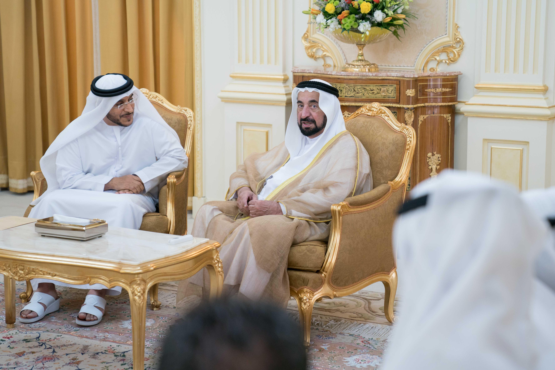 سلطان القاسمي يستقبل مدير عام بلدية مدينة الشارقة 1