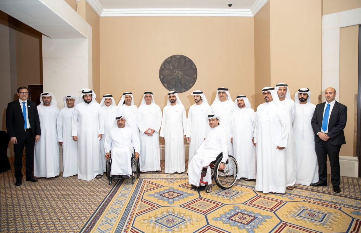 محمد بن راشد يلتقي أعضاء منتخب الإمارات لأصحاب الهمم KHE /Medium/ 4