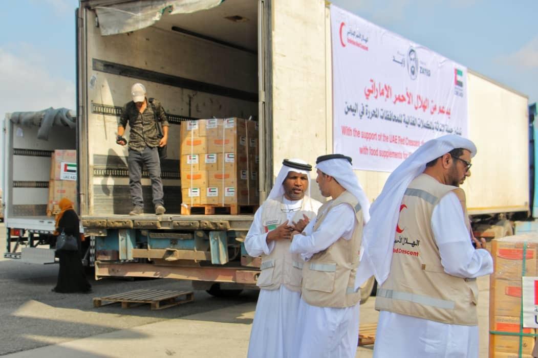 الإمارات تقدم 33 طنا من المكملات الغذائية لليمن للحيلولة دون إصابة الأطفال بسوء التغذية الحاد.  6