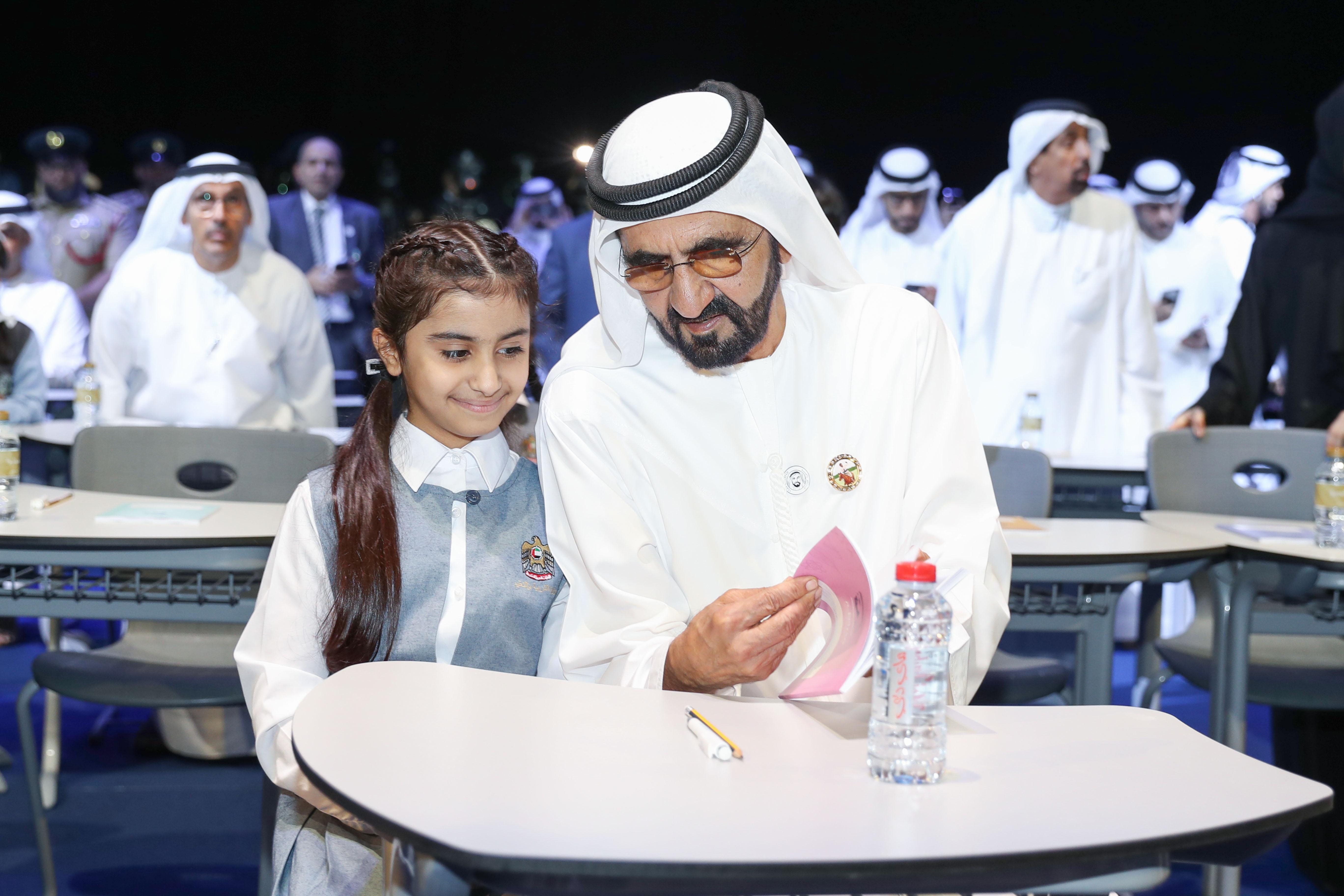 """محمد بن راشد يدشن منصة """" مدرسة """" الأكبر عربيا للتعليم الإلكتروني. 5"""