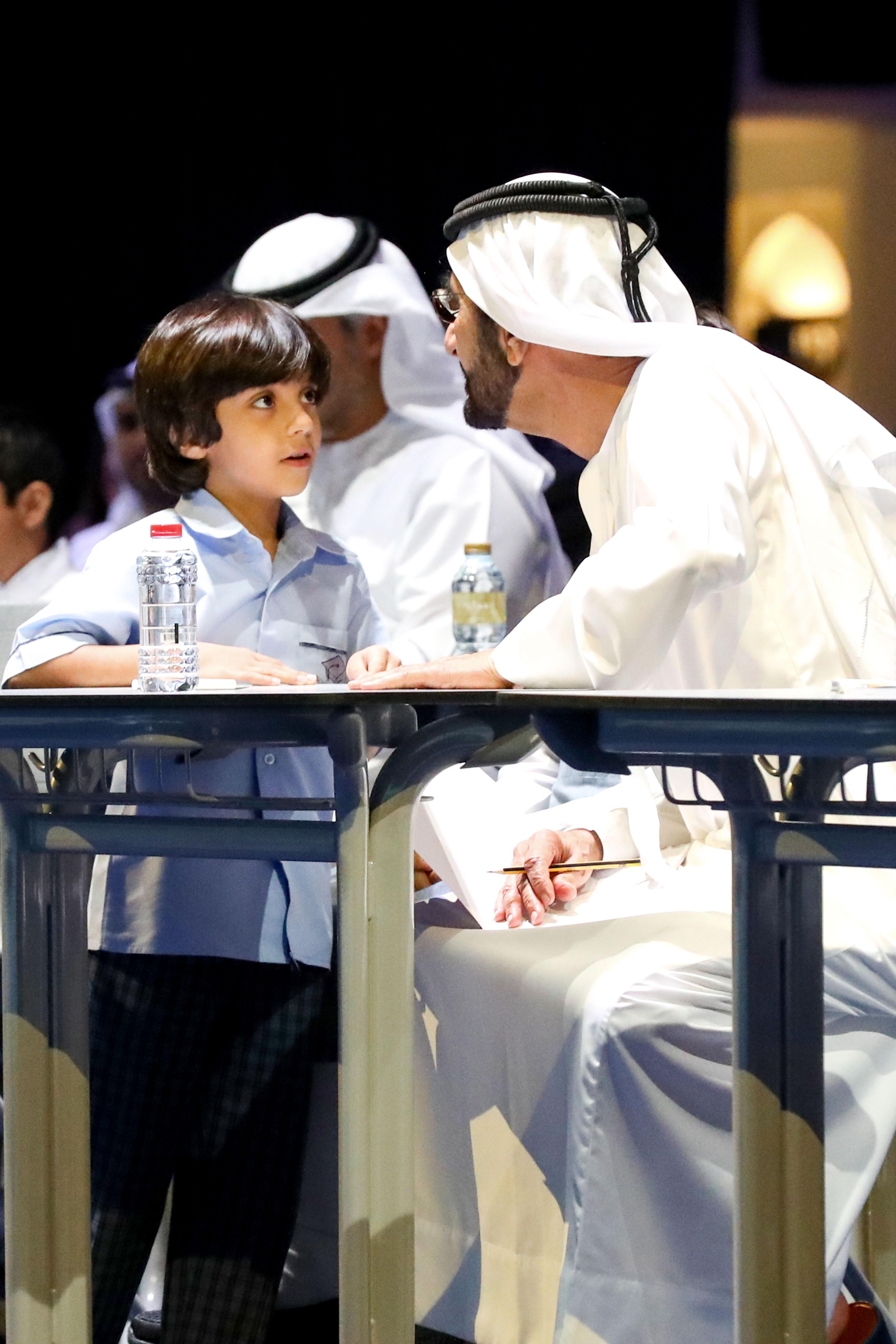 """محمد بن راشد يدشن منصة """" مدرسة """" الأكبر عربيا للتعليم الإلكتروني. 1"""