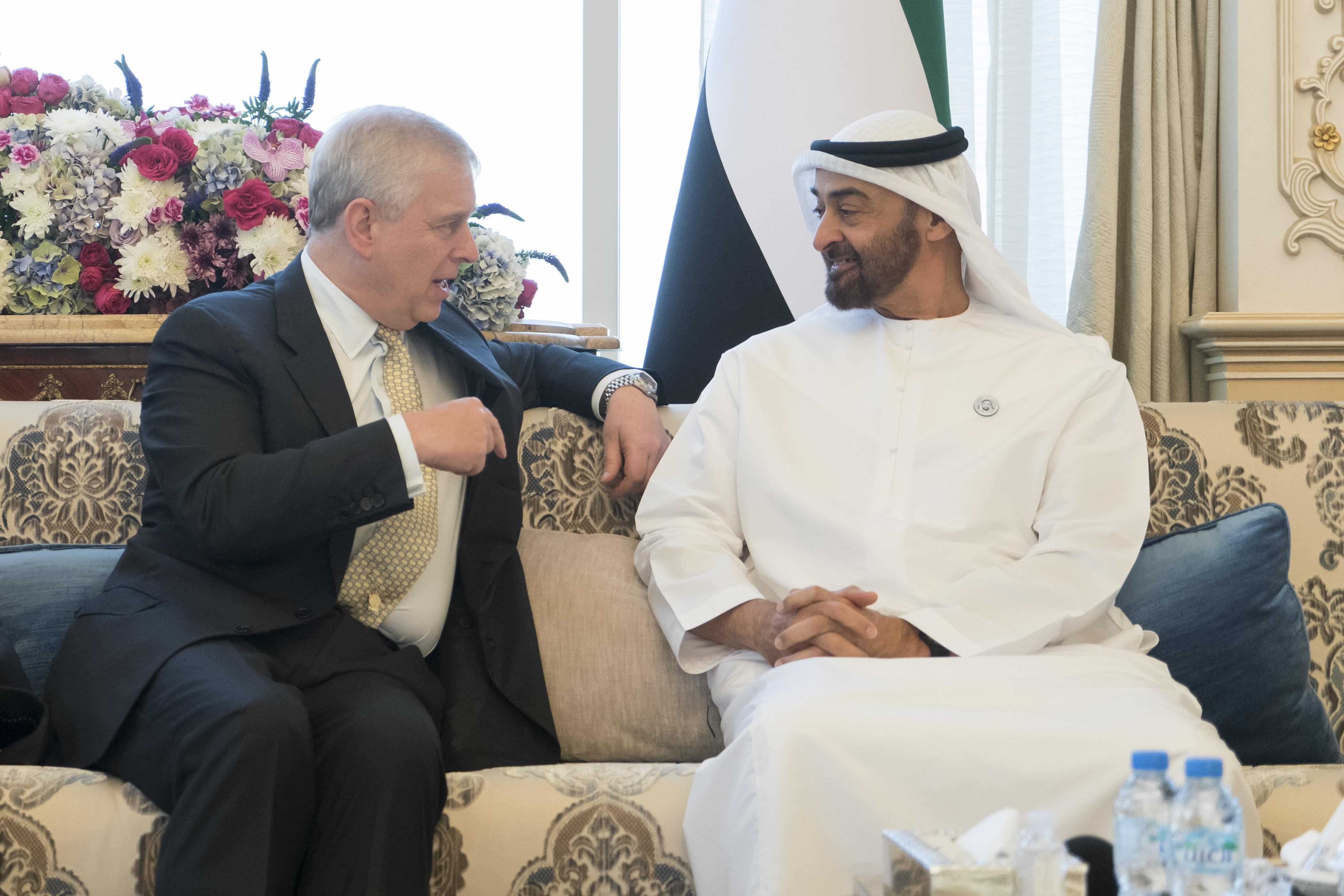 محمد بن زايد يستقبل الأمير أندرو دوق يورك 6