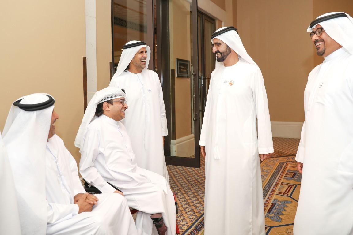 محمد بن راشد يلتقي أعضاء منتخب الإمارات لأصحاب الهمم KHE /Medium/ 2
