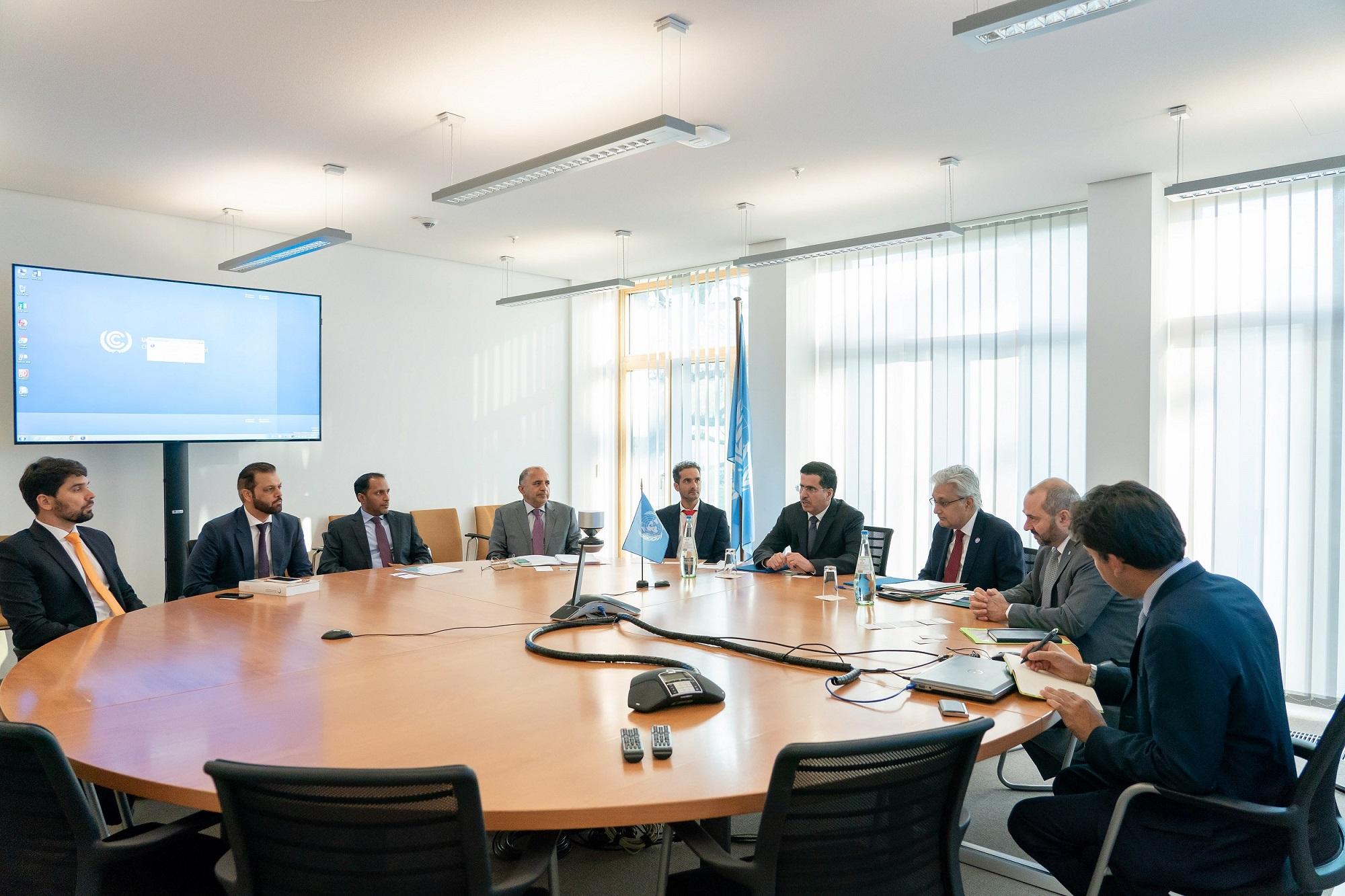 wgeo chairman, unfccc deputy executive secretary discuss cooperation 1