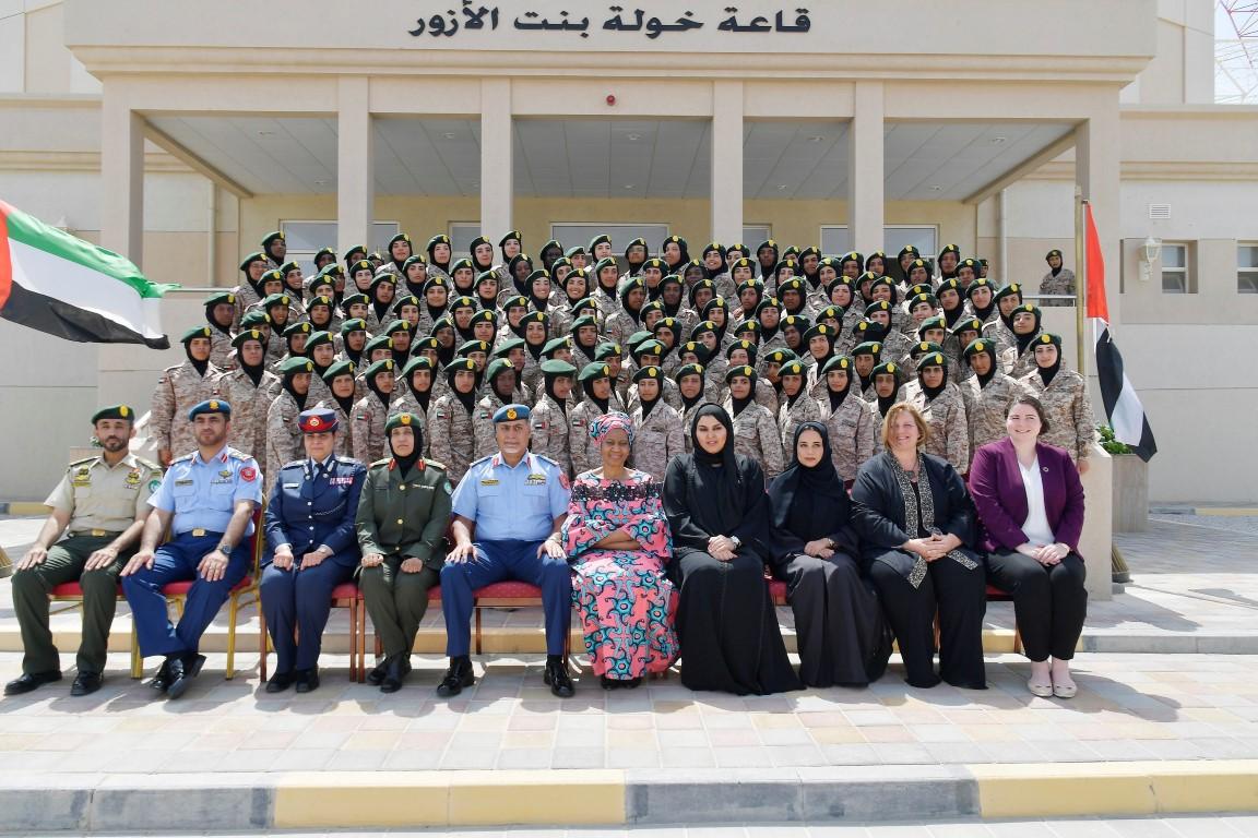 برعاية الشيخة فاطمة.. مدرسة خولة بنت الأزور العسكرية تحتفل بتخريج 134متدربة من سبع دول عربية