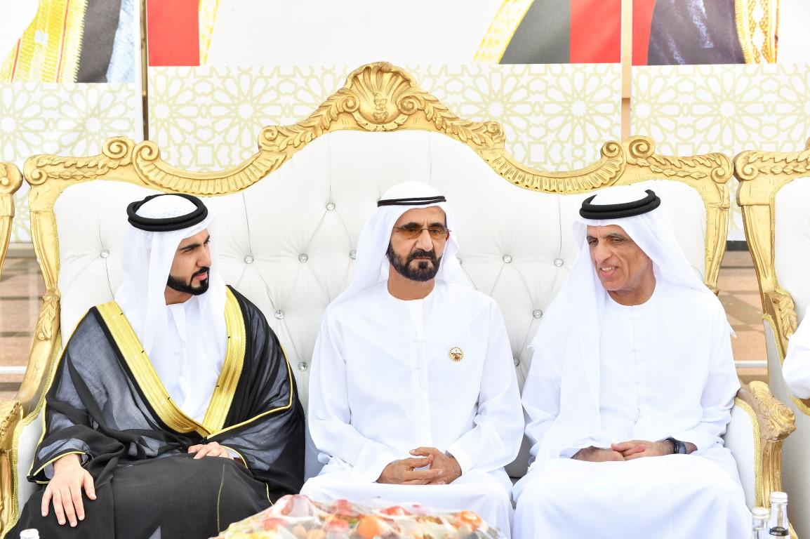 محمد بن راشد وسعود القاسمي يشاركان قبيلتي الخاطري والغفلي أفراحهما