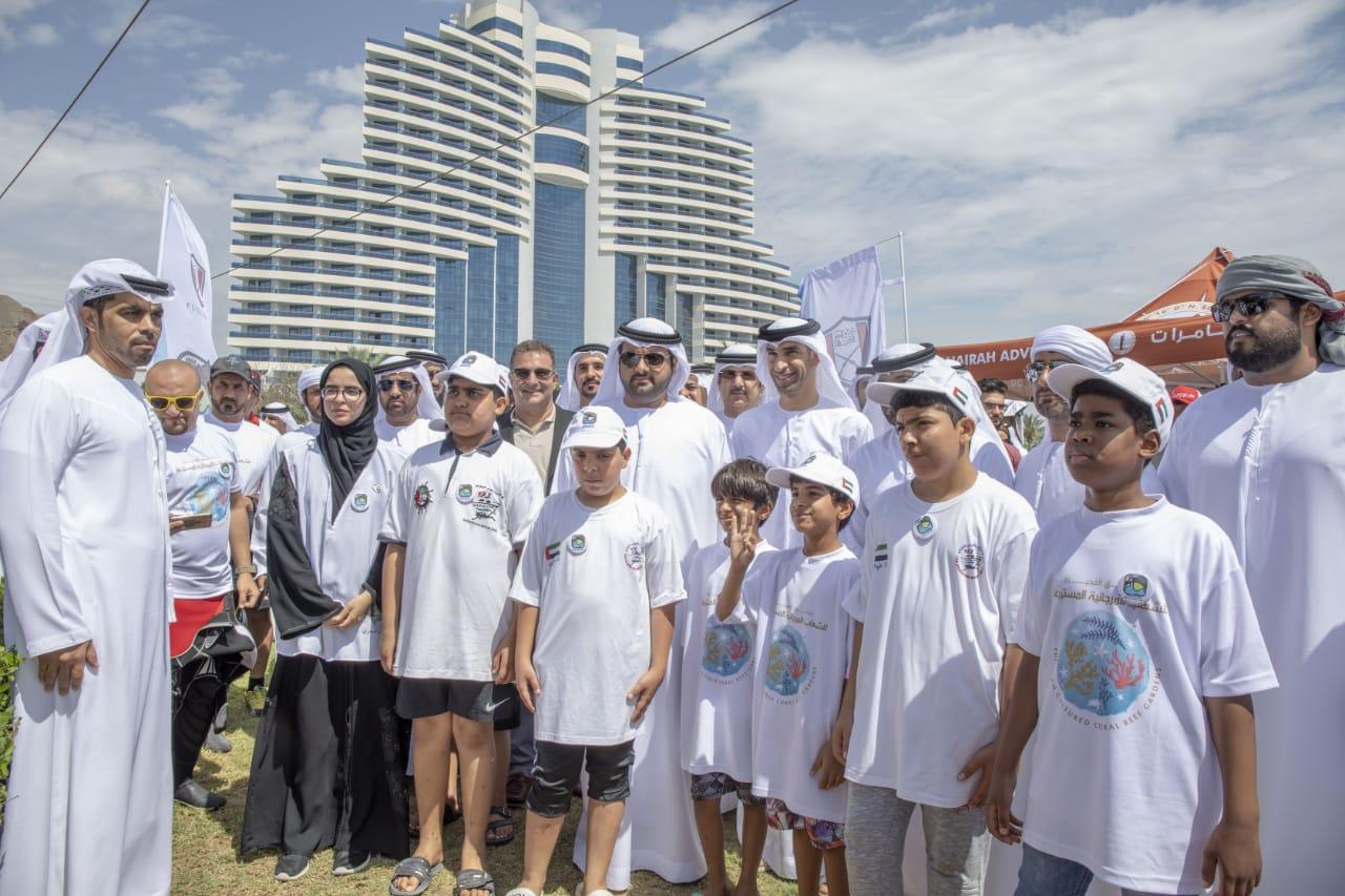 """محمد بن حمد الشرقي يطلق مشروع """" حدائق الفجيرة للشعاب المرجانية المستزرعة"""""""