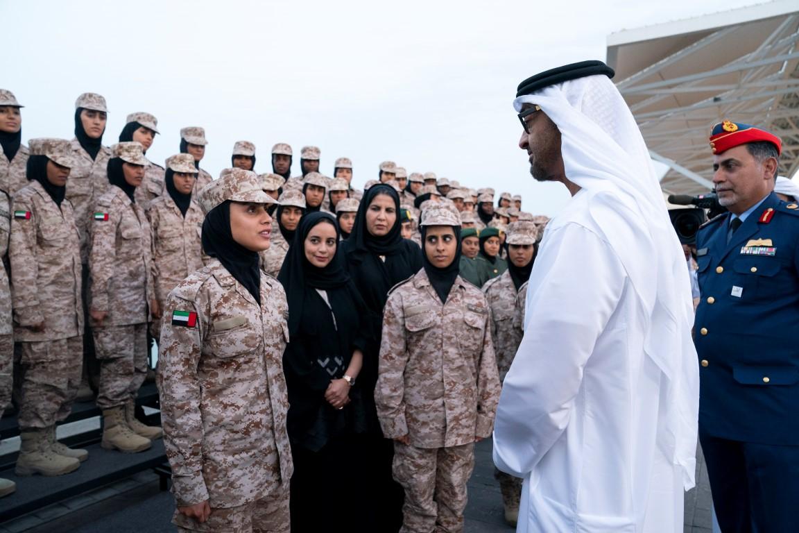 محمد بن زايد يستقبل المشاركات في البرنامج الأممي لتطوير قدرات المرأة العربية بمهام حفظ الأمن والسلام