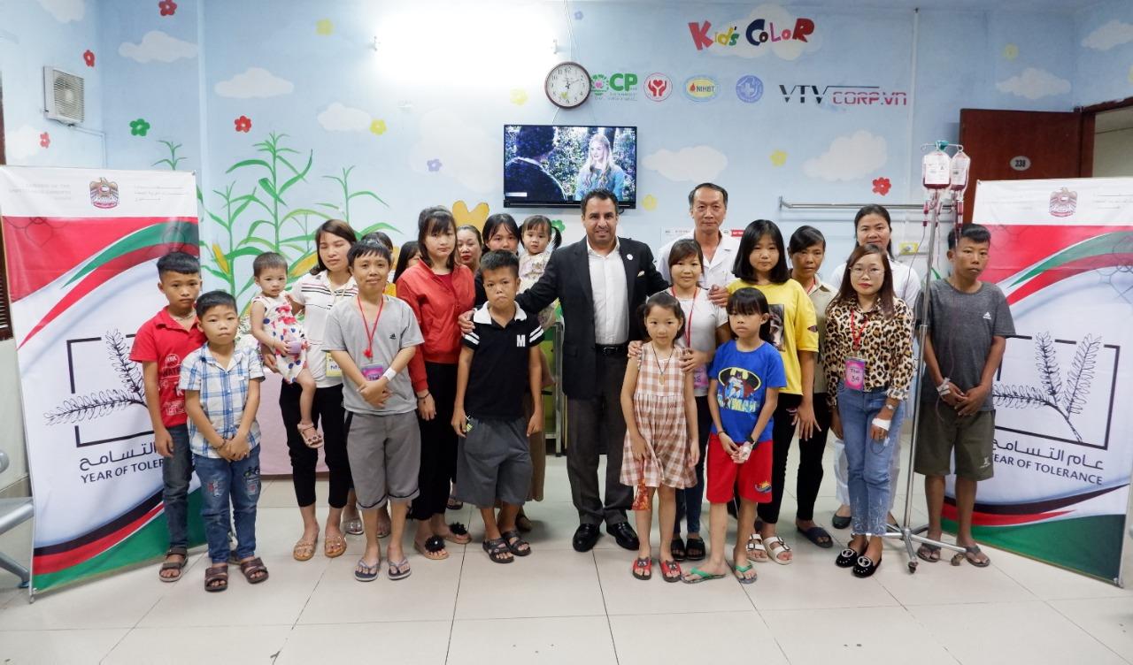 سفارة الدولة تدعم مرضى الثلاسيميا في هانوي