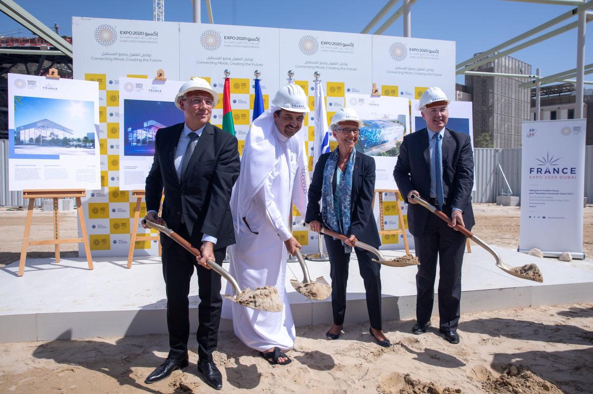 """وضع الحجر الأساس لبناء الجناح الفرنسي في """"إكسبو 2020 دبي"""""""
