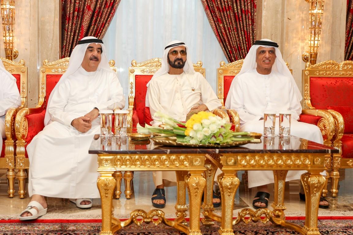 محمد بن راشد يستقبل حاكمي أم القيوين ورأس الخيمة