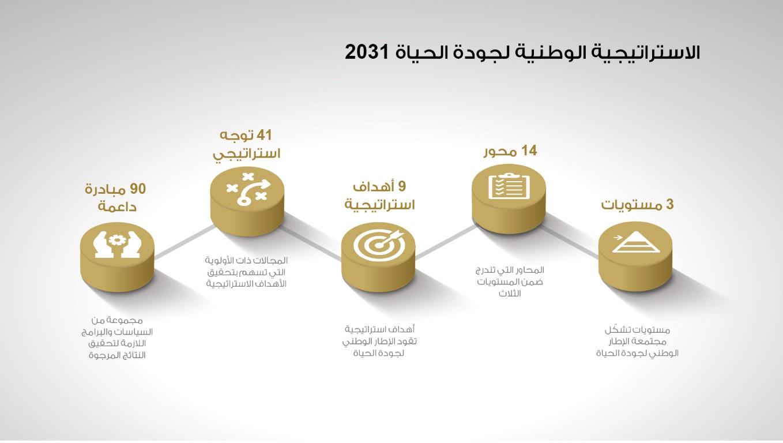 الاستراتيجية الوطنية لجودة الحياة 2031 ترسخ أسس فكر جديد في العمل الحكومي