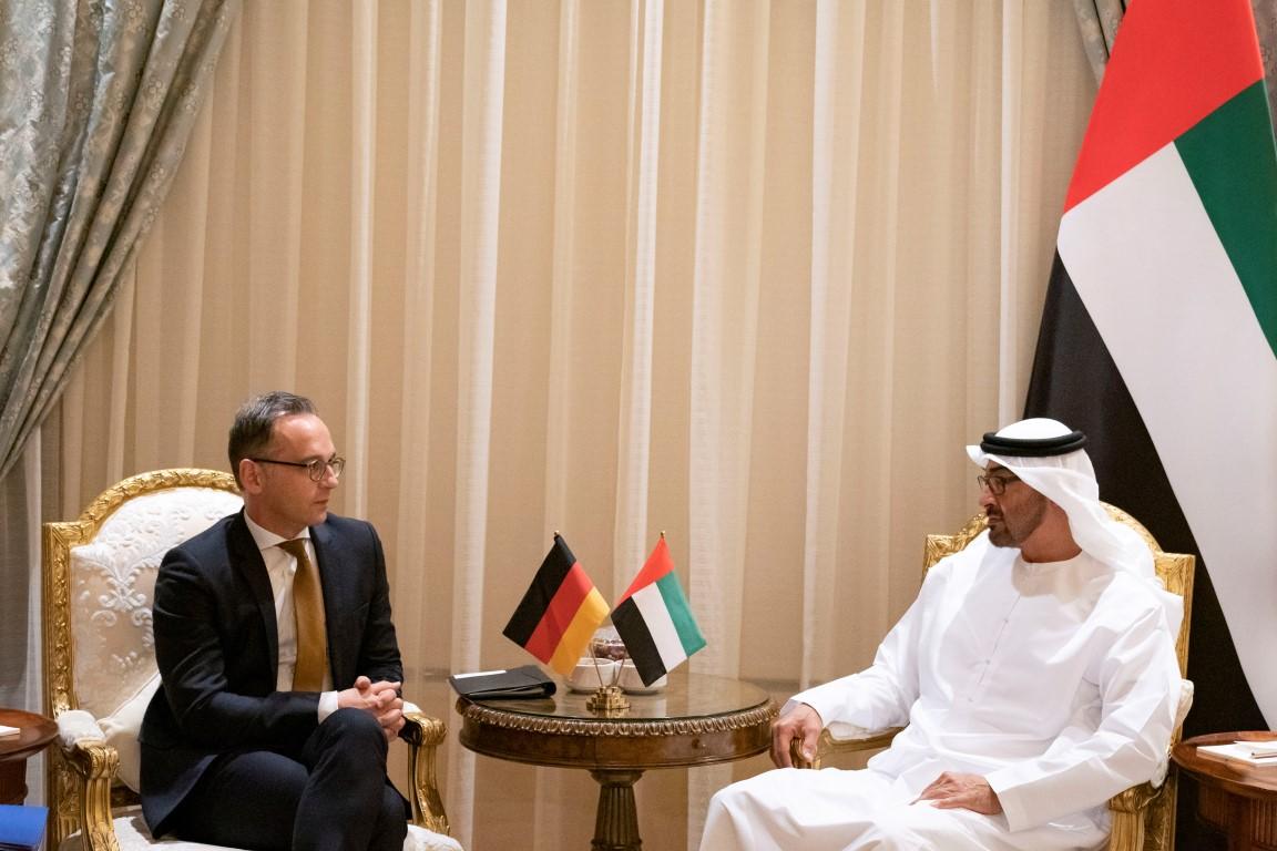 محمد بن زايد يستقبل وزير الخارجية الألماني
