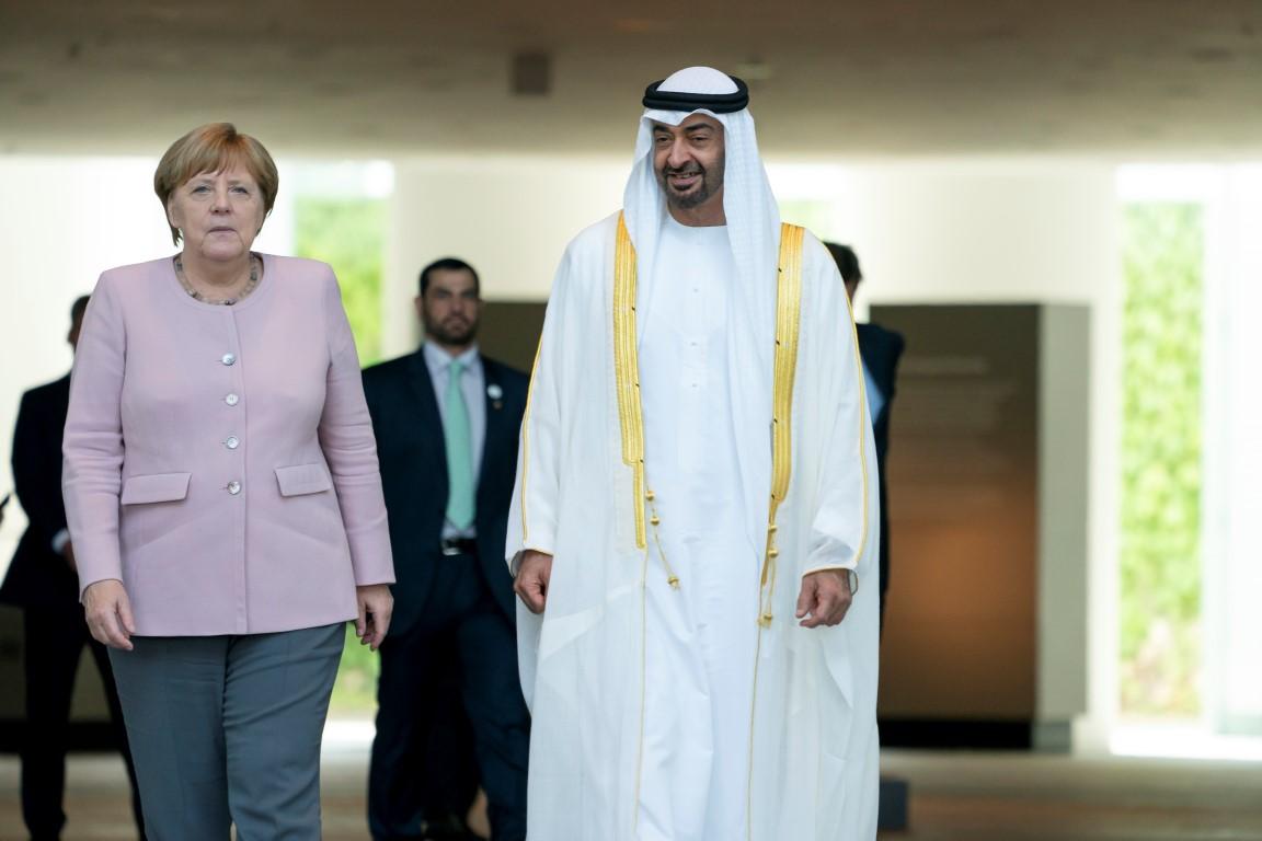 محمد بن زايد يبحث مع المستشارة الألمانية تعزيز العلاقات الثنائية وعددا من القضايا ذات الاهتمام المشترك