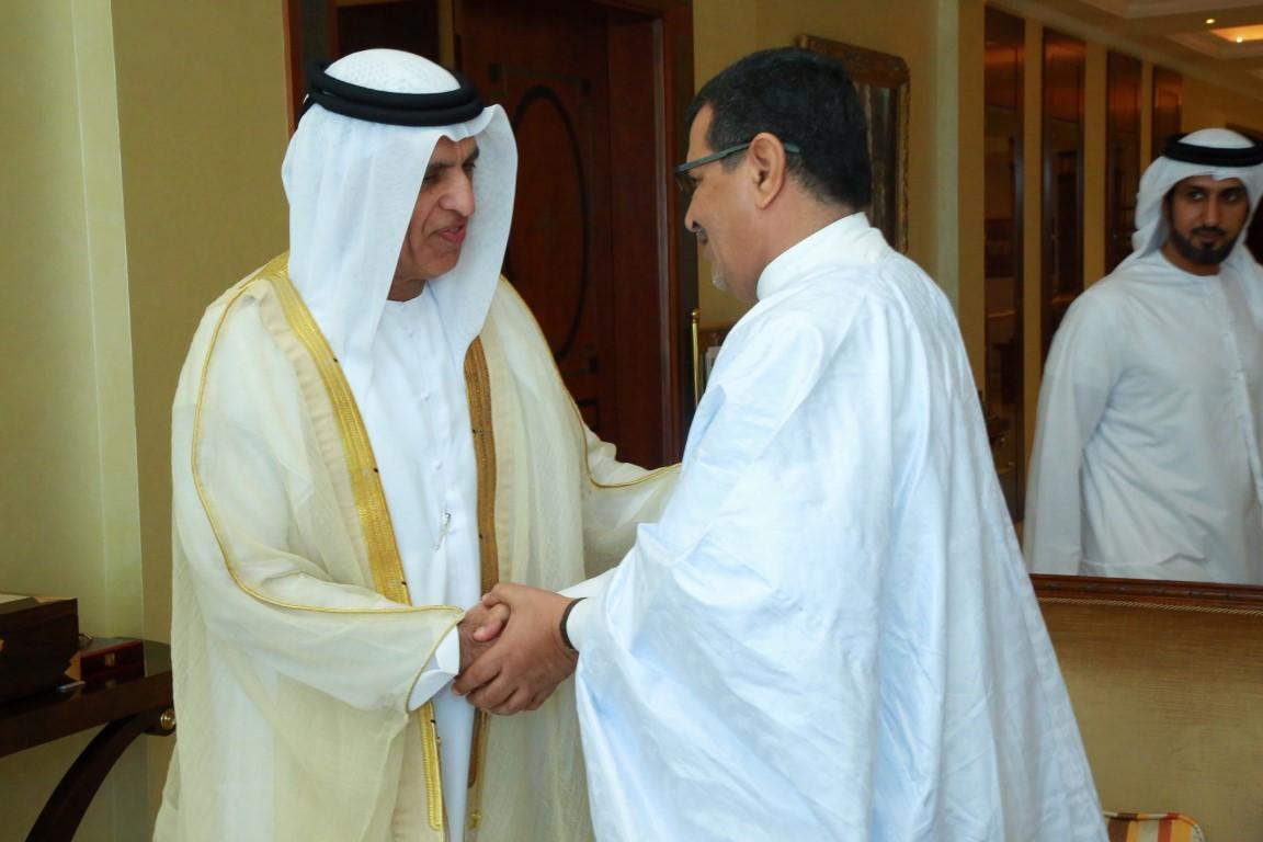حاكم رأس الخيمة يستقبل سفير موريتانيا