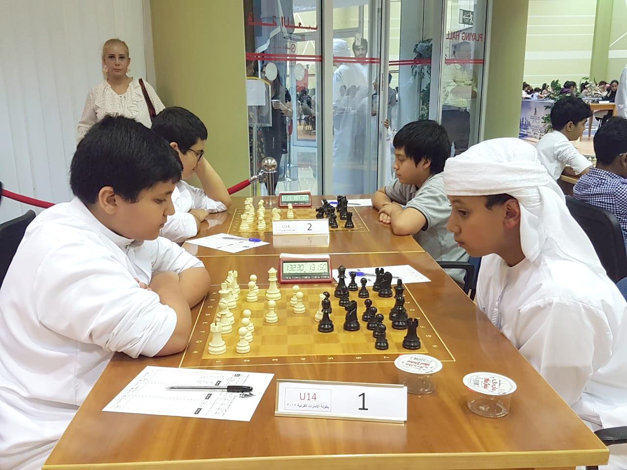 الزعابي والسدراني في صدارة بطولة الإمارات الفردية للشطرنج