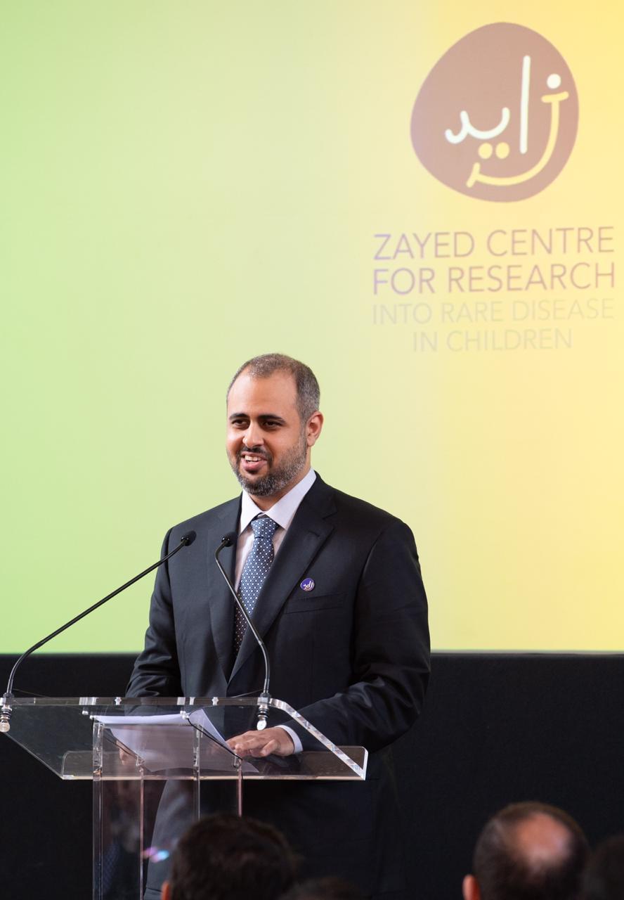 ذياب بن محمد يفتتح مركز زايد لأبحاث الأمراض النادرة لدى الأطفال في لندن