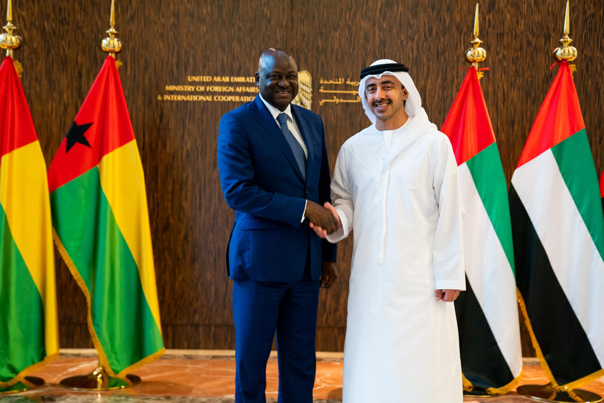 عبدالله بن زايد يستقبل رئيس وزراء غينيا بيساو