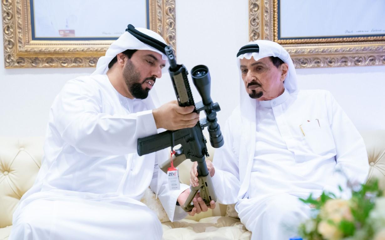 حاكم عجمان يزور معرض أبوظبي الدولي للصيد والفروسية 2019
