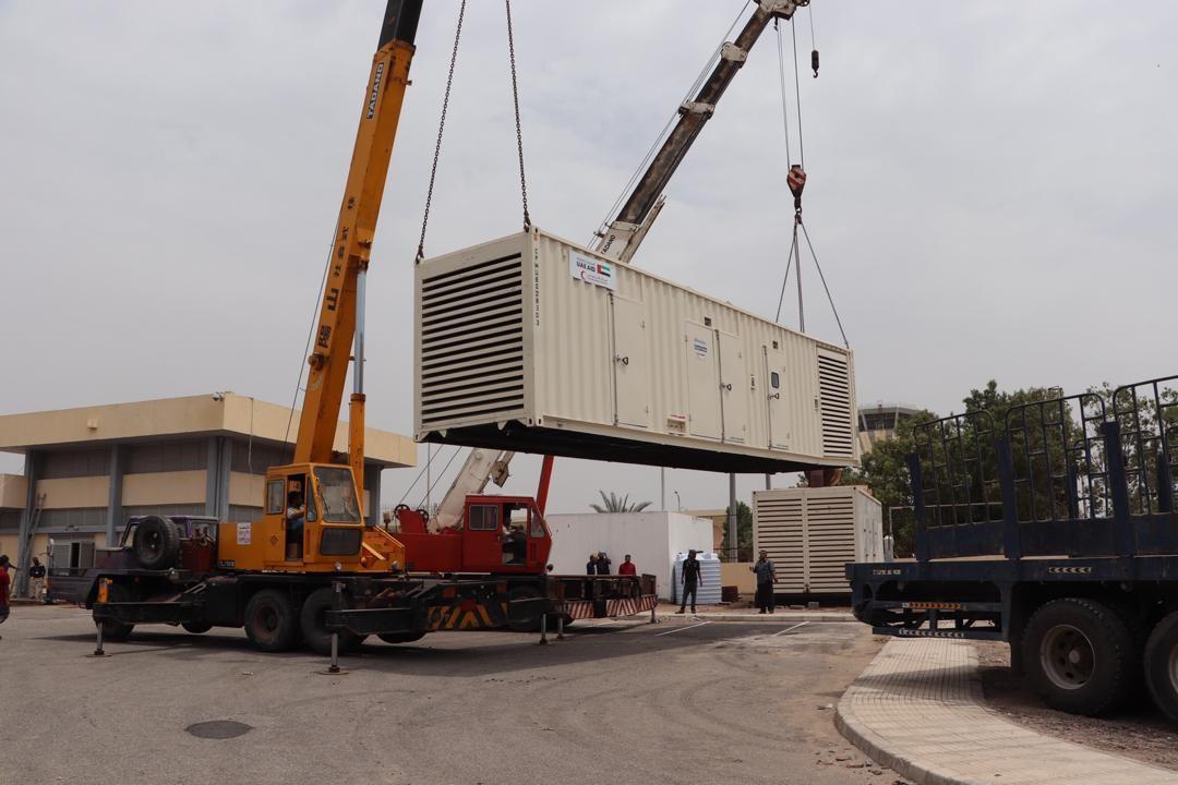 الإمارات تدعم مطارعدن بأجهزة ومولدات كهربائية