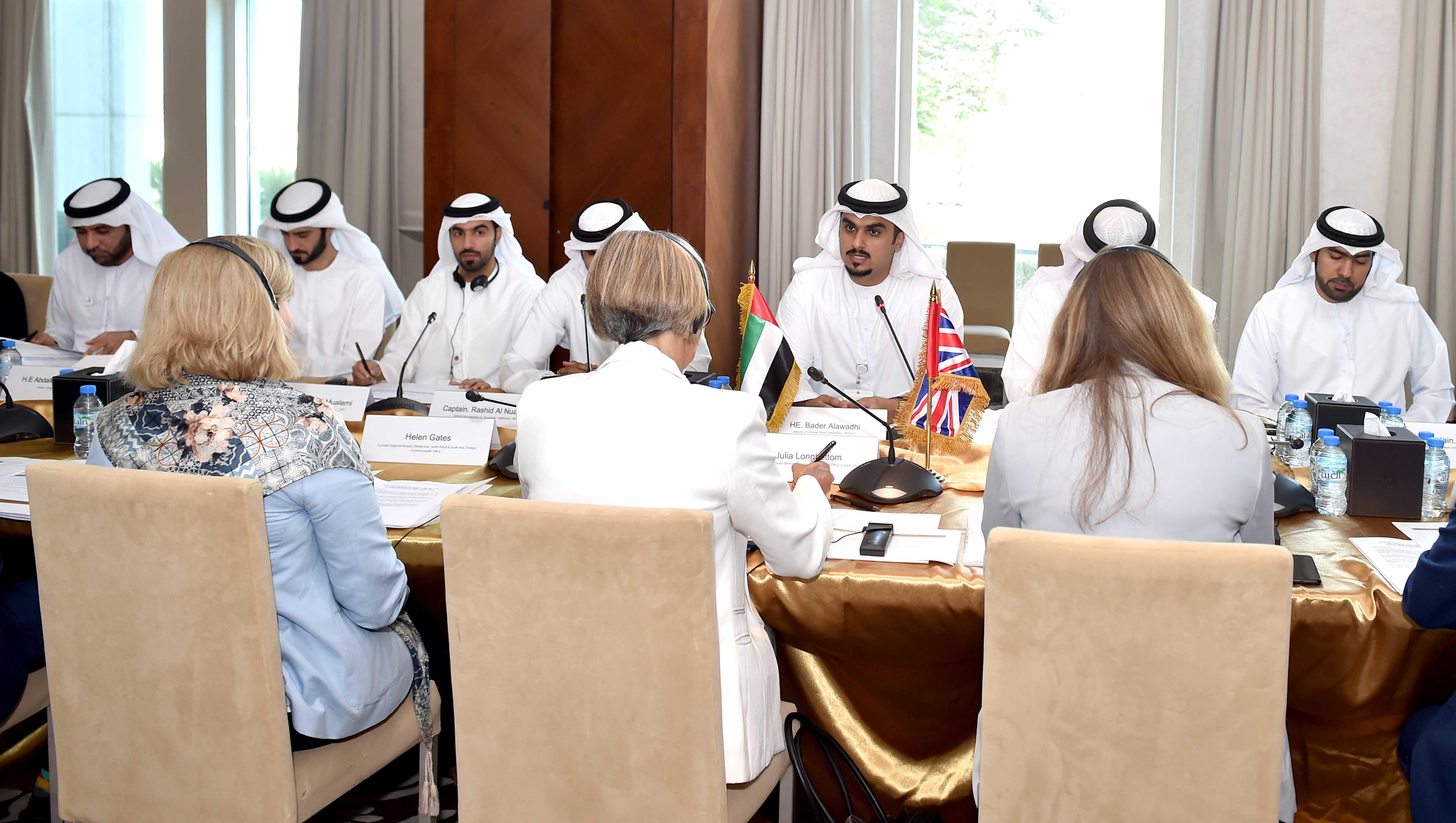 اللجنة القنصلية السابعة الإماراتية - البريطانية تعقد أعمالها في أبوظبي