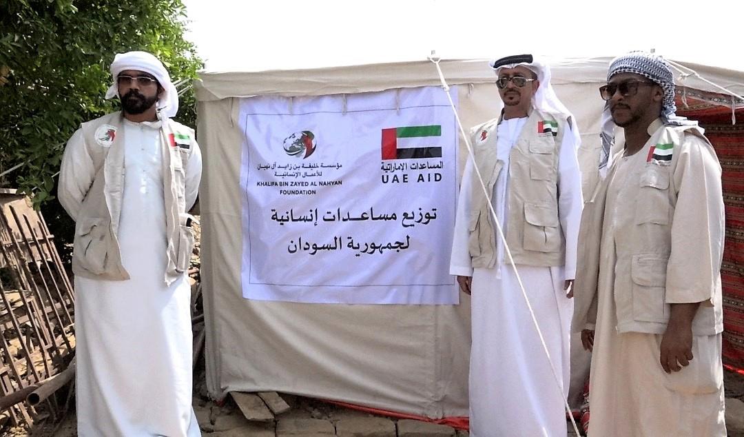 """""""خليفة الإنسانية"""" تدشن المرحلة الأولى من إغاثة متضرري السيول في السودان"""