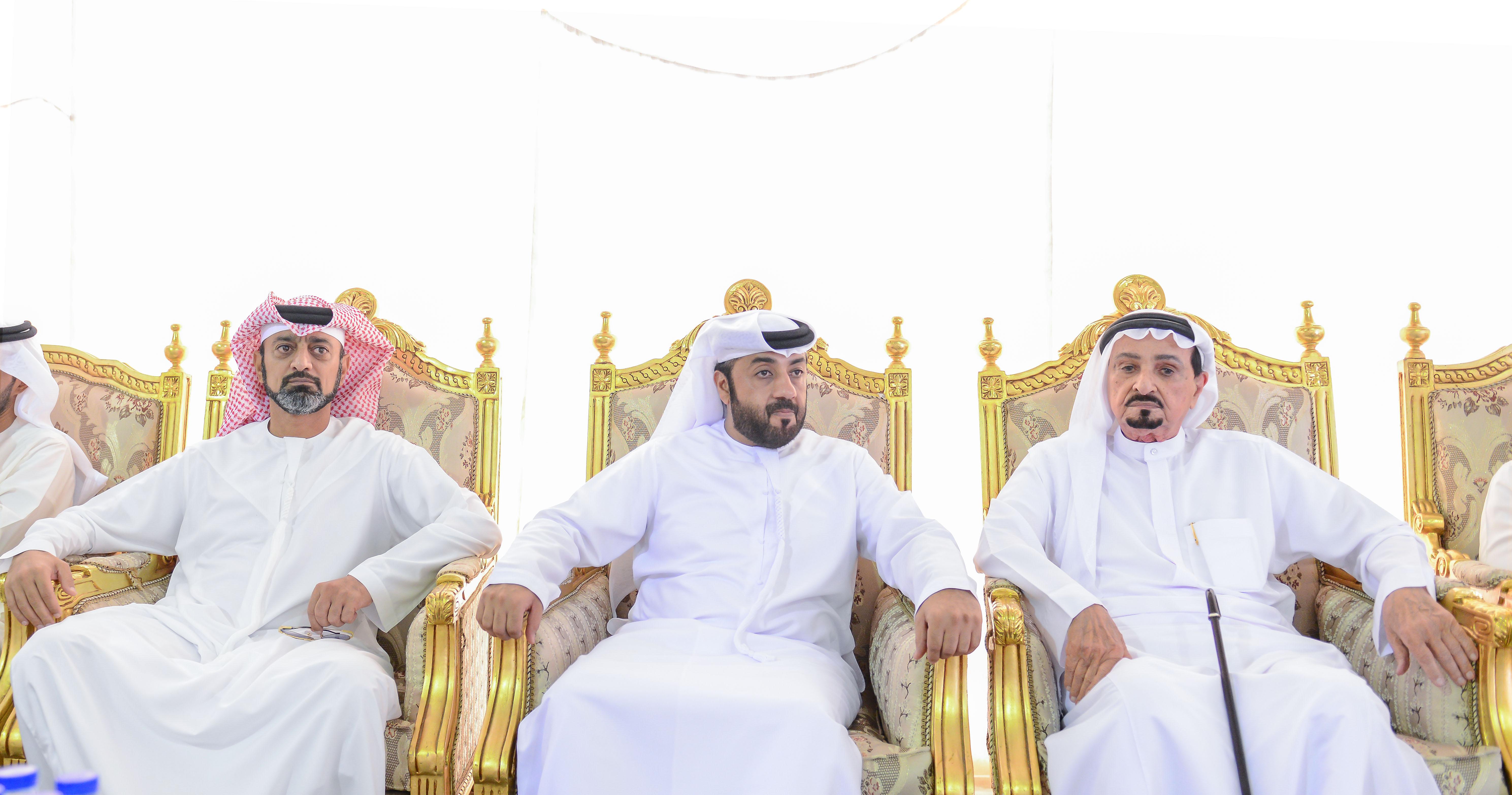 حاكم عجمان وولي عهده يقدمان واجب العزاء في وفاة سلطان العقروبي