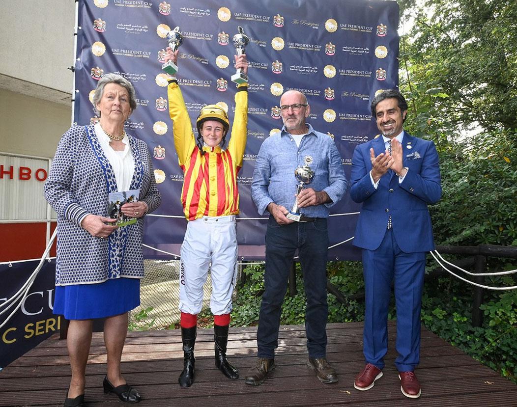 """""""خير الشام"""" بطلا لكأس رئيس الدولة للخيول العربية في هولندا.. ومكتسبات عالمية للسباقات"""