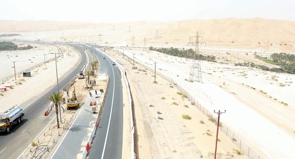 """""""النقل المتكامل"""" و""""مساندة"""" ينفذان طريق بين حقل شاه ومزيرعة بـ 158.4 مليون درهم"""