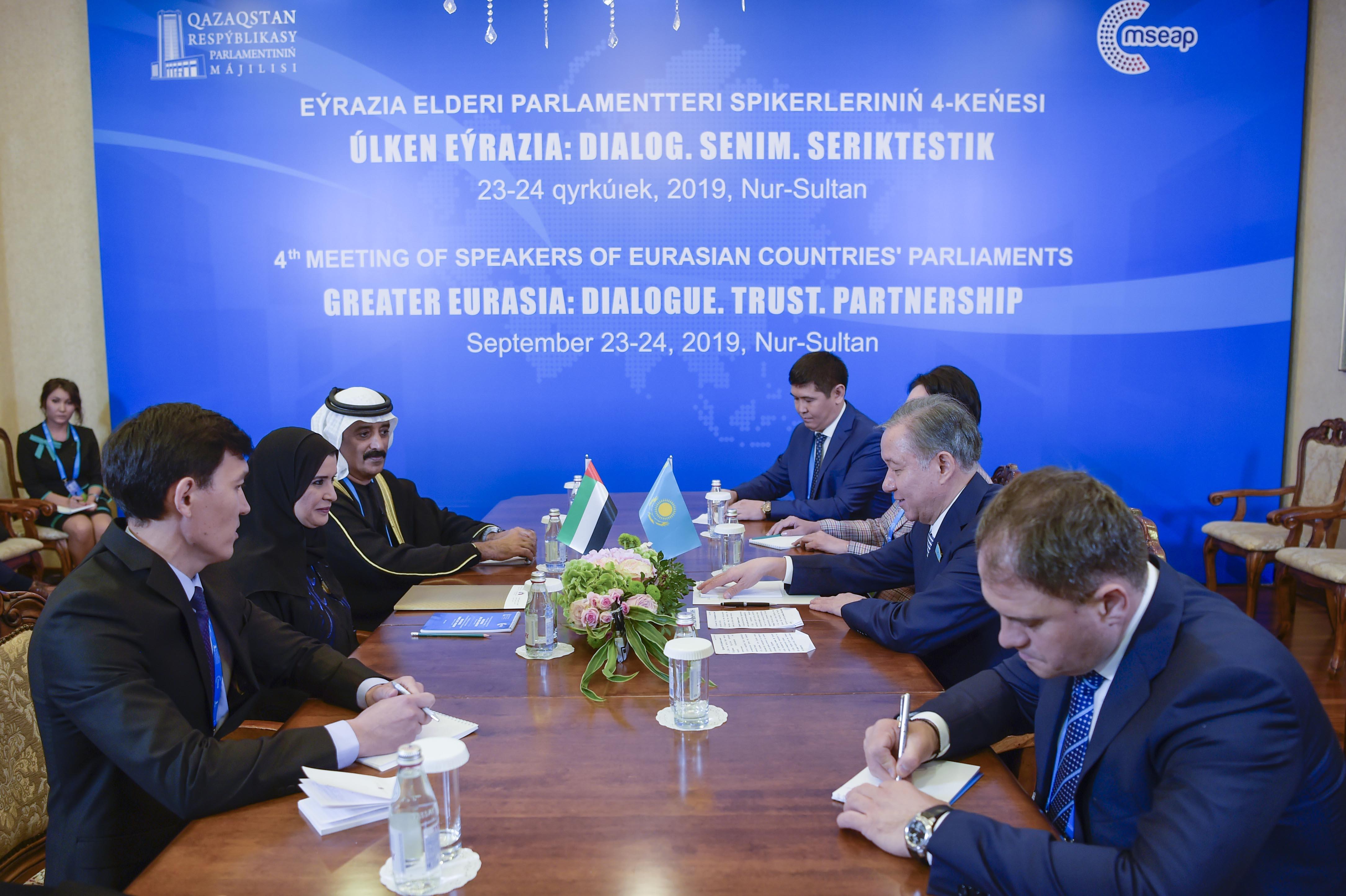 القبيسي تبحث تعزيز العلاقات البرلمانية مع رئيس مجلس النواب الكازاخستاني 4