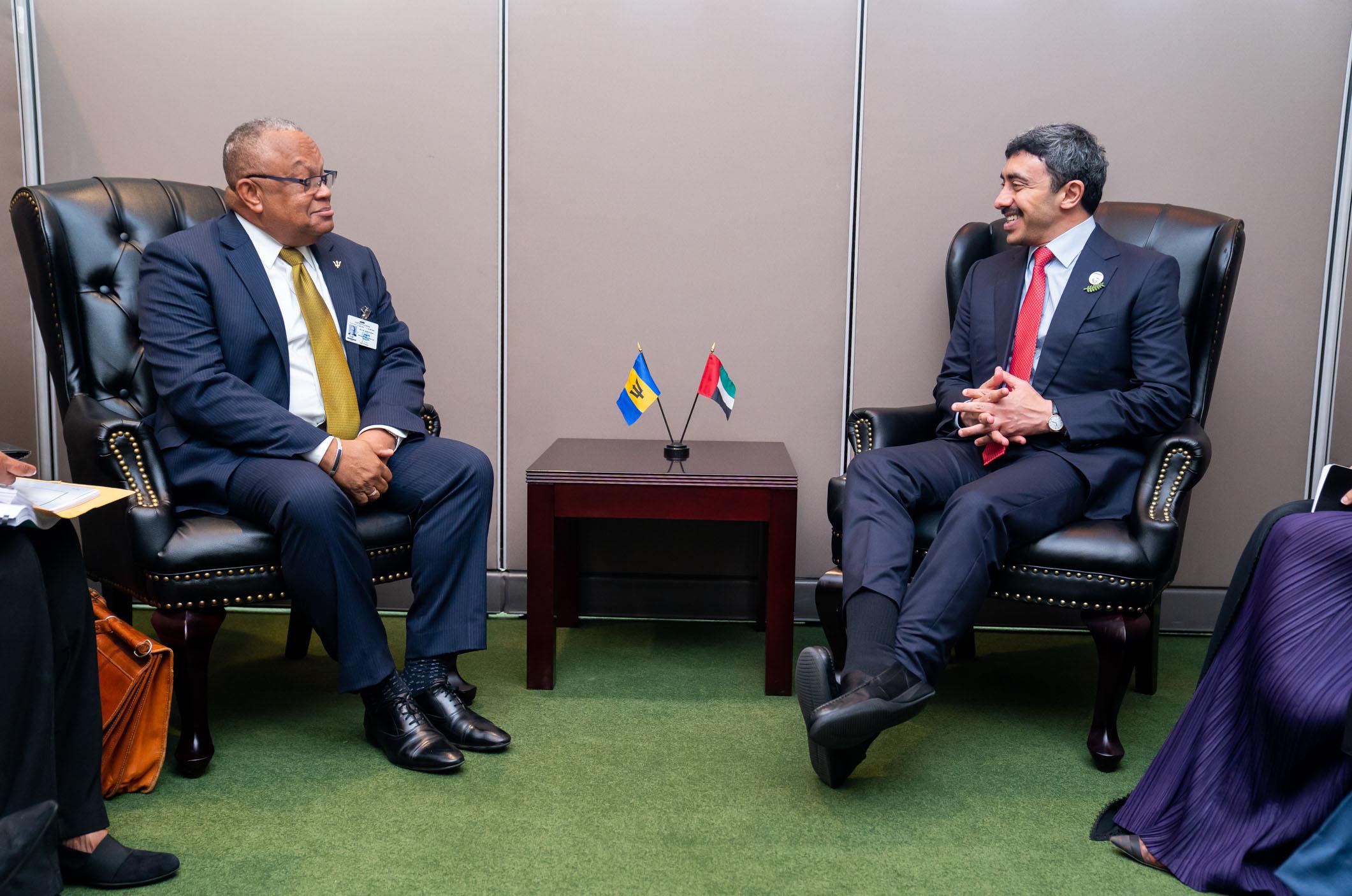 عبدالله بن زايد يلتقي عددا من وزراء الخارجية في نيويورك