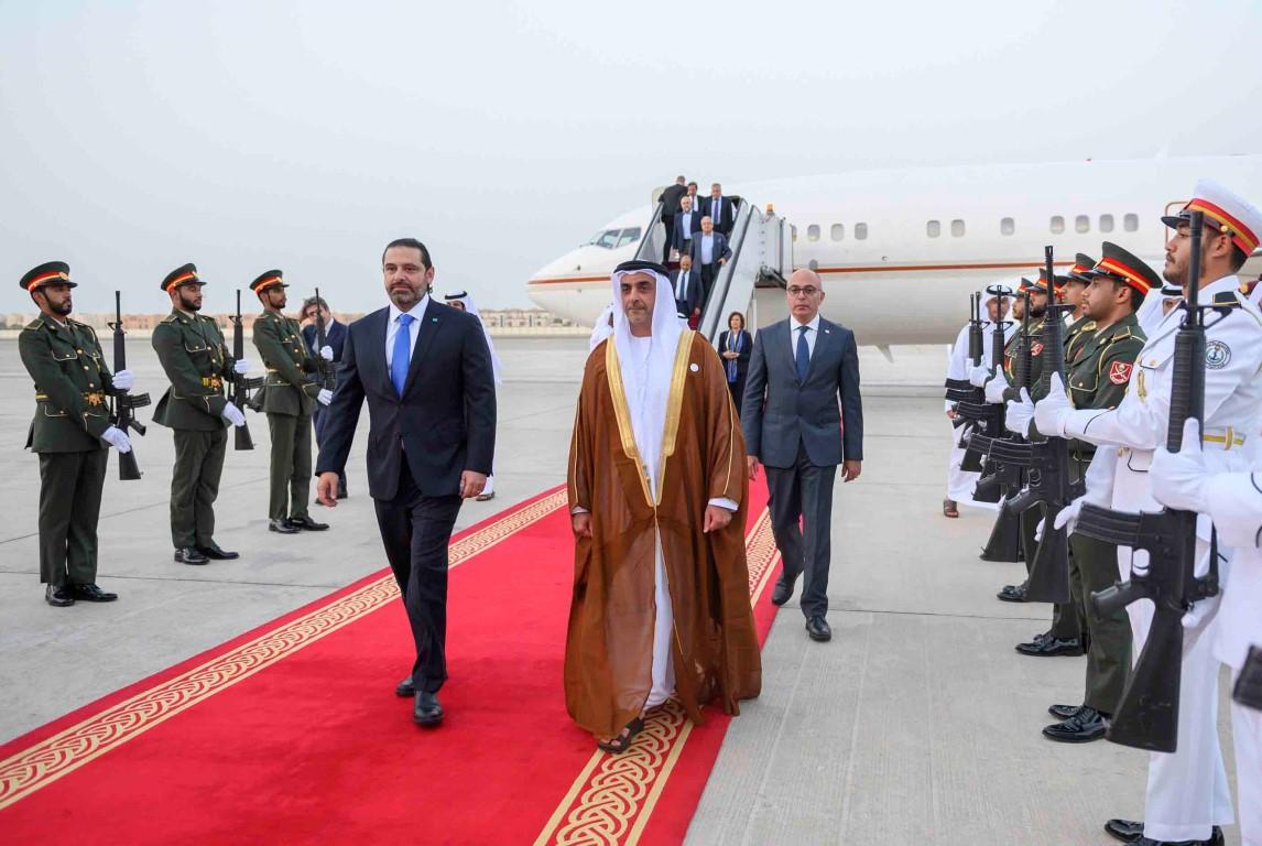سيف بن زايد في استقباله ..سعد الحريري يصل إلى الإمارات
