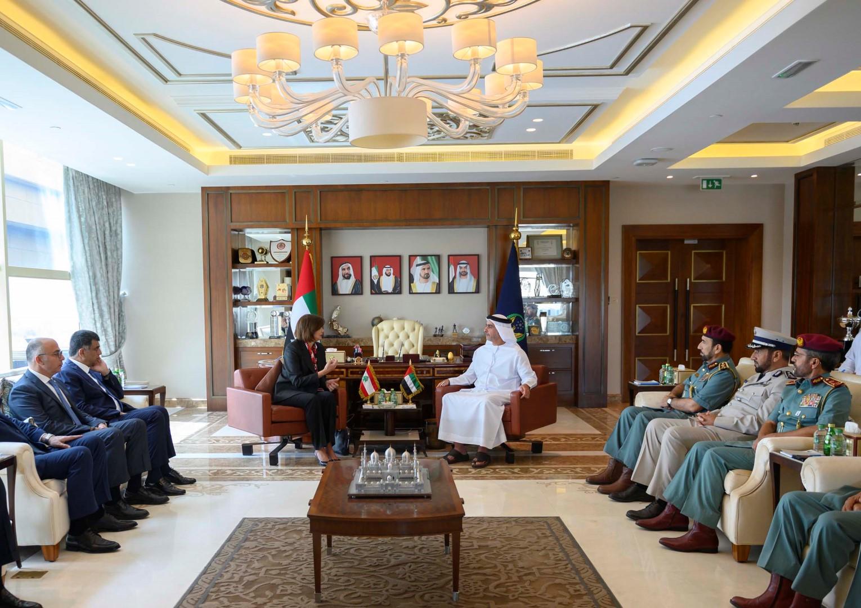 سيف بن زايد يستقبل وزيرة الداخلية اللبنانية