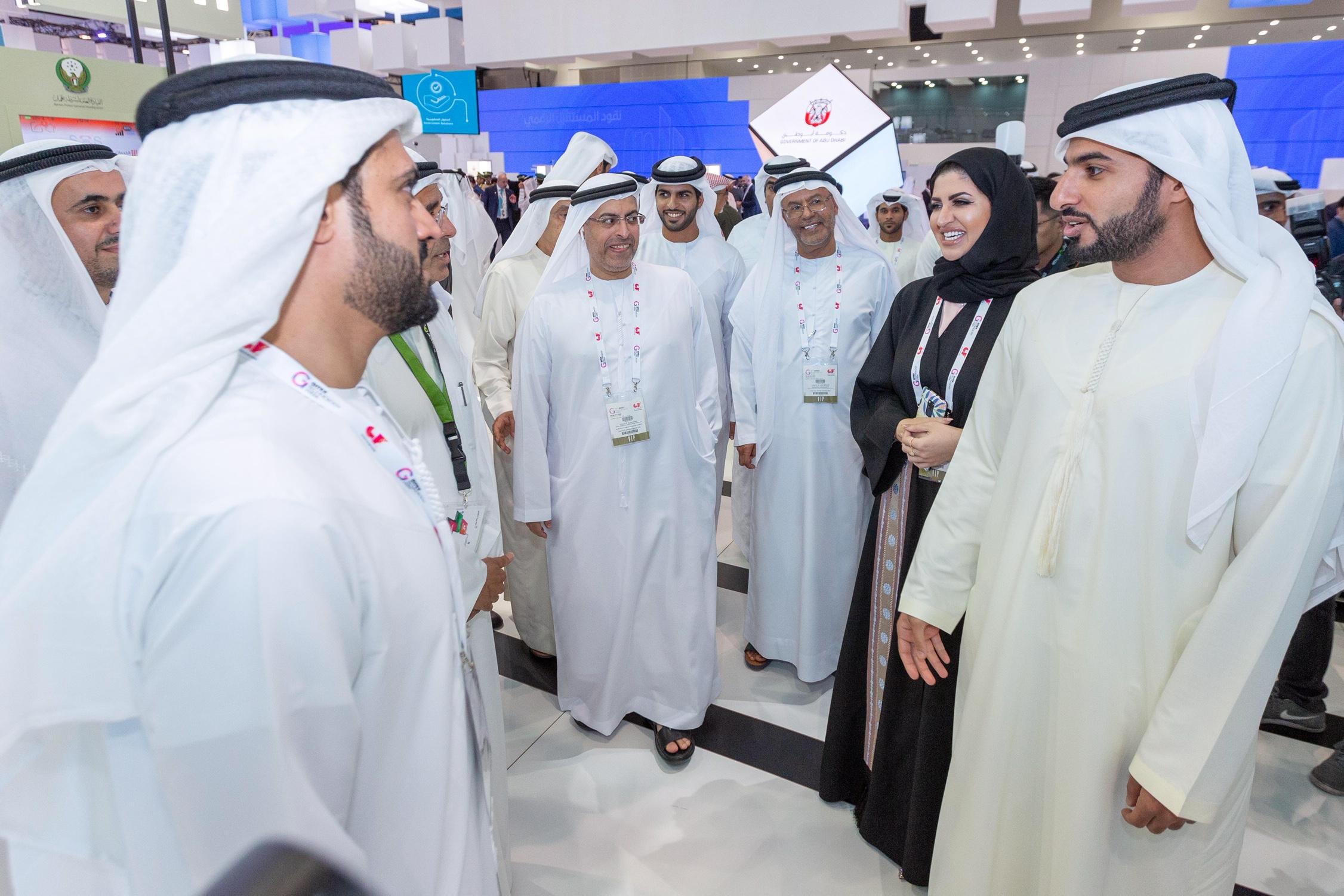 راشد بن حميد النعيمي يزور منصة حكومة عجمان في جيتكس
