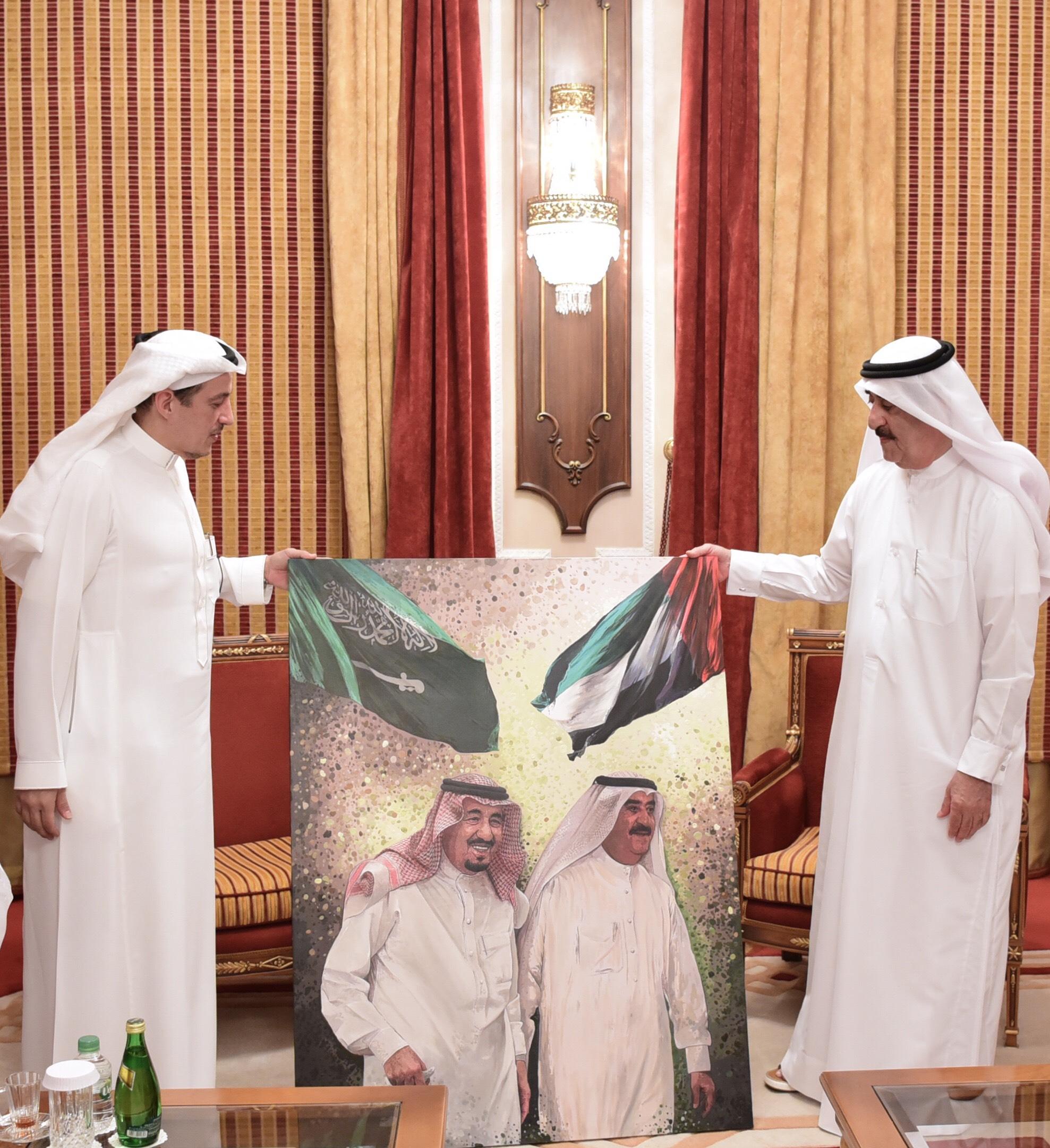 حاكم أم القيوين يستقبل سفير المملكة العربية السعودية