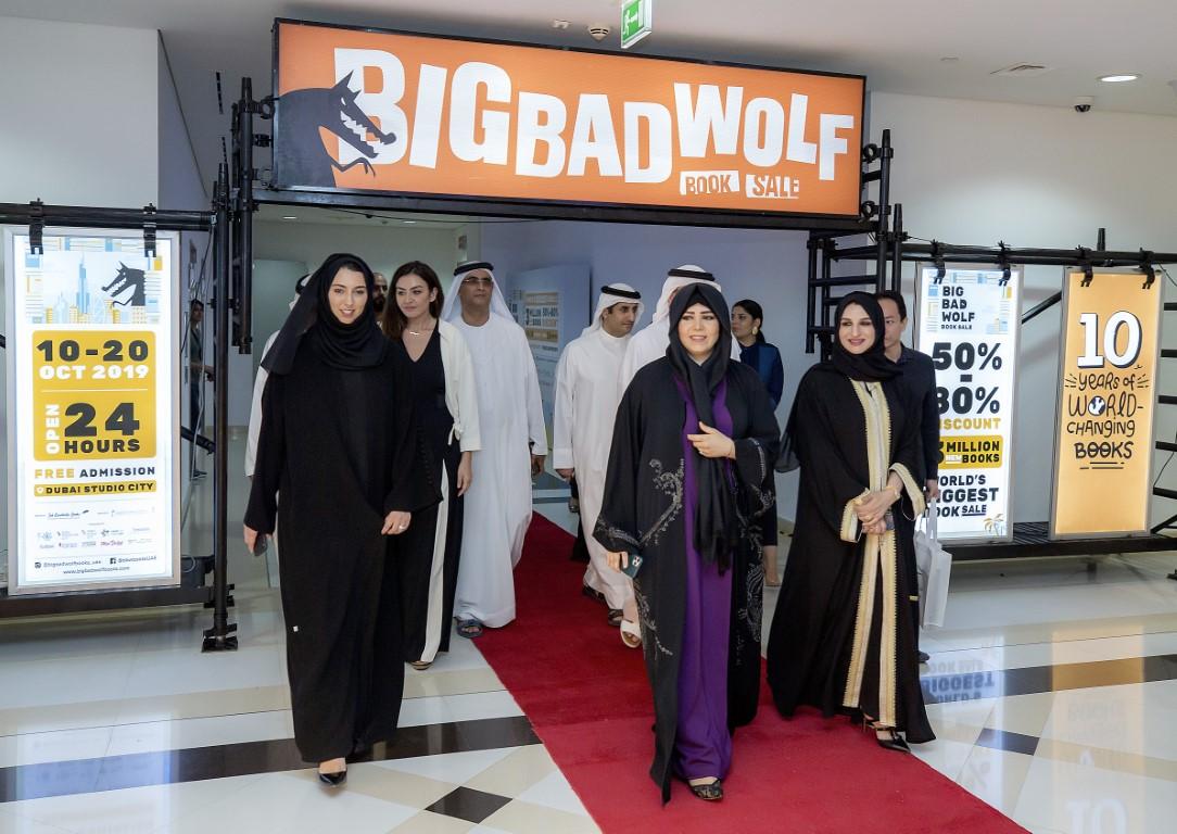 لطيفة بنت محمد تفتتح معرض بيغ باد وولف للكتب في دبي