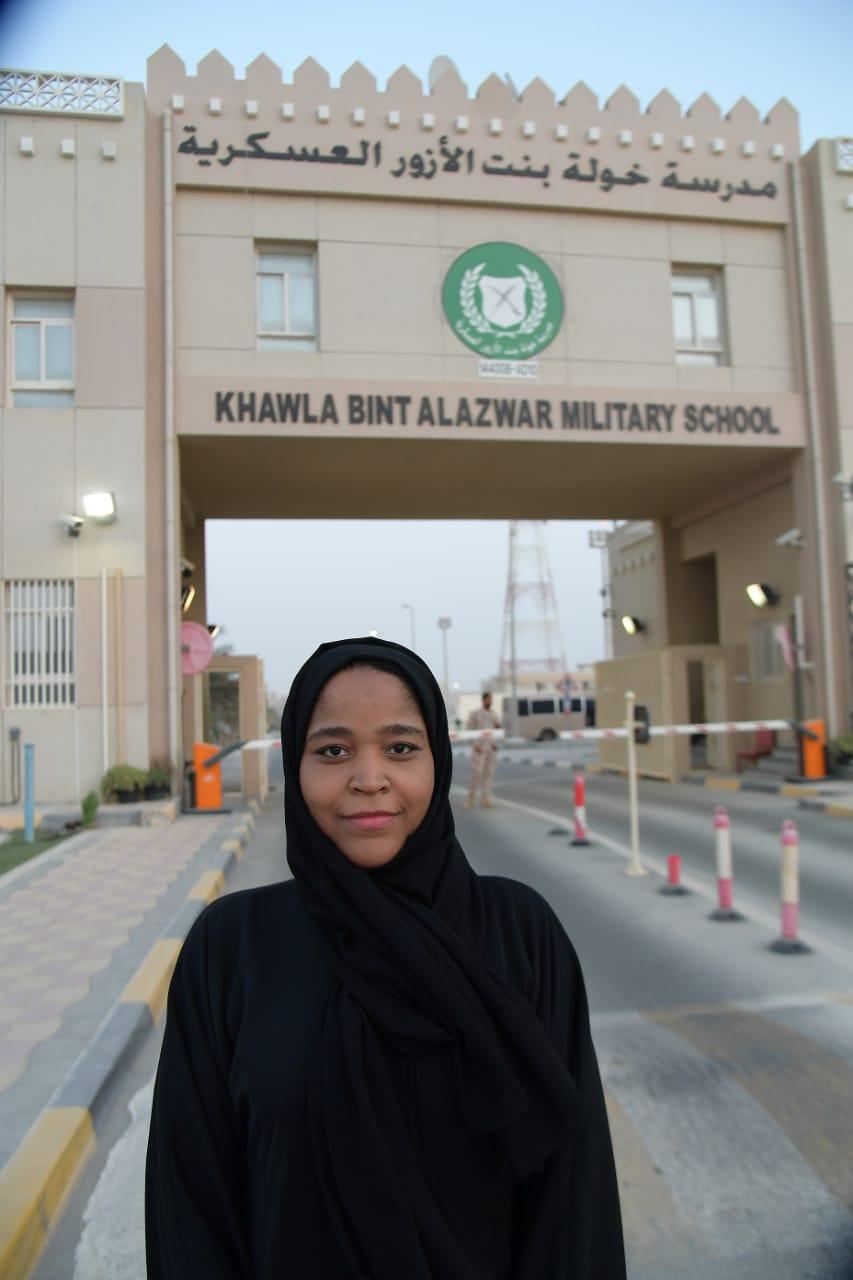 """""""مدرسة خولة بنت الأزور"""" تستقبل الدفعة الـ 8 من المنتسبات للخدمة الوطنية"""