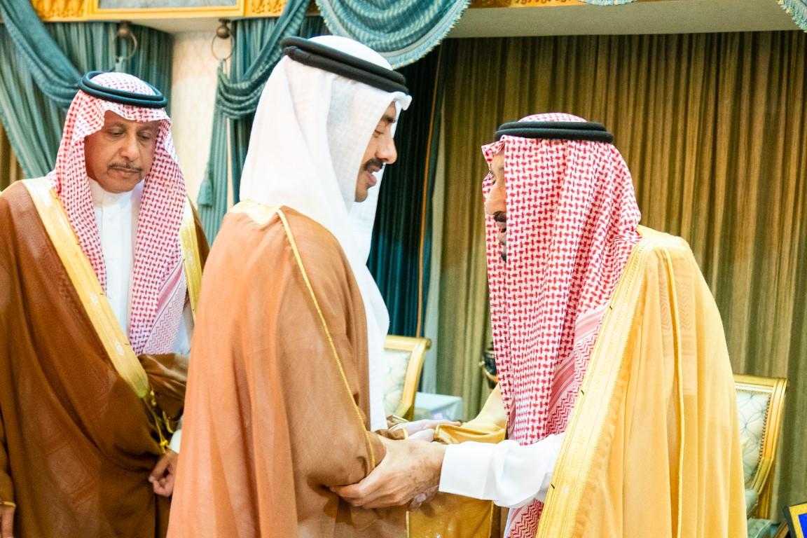 خادم الحرمين الشريفين يستقبل عبدالله بن زايد