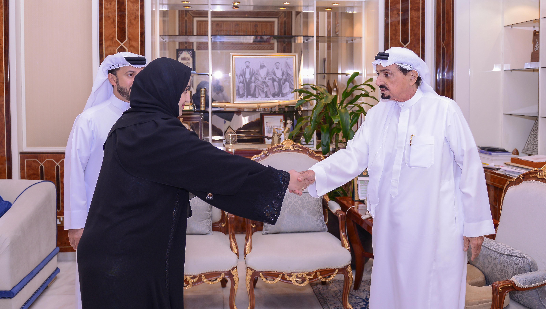حاكم عجمان يهنئ عذراء حسن بن ركاض بفوزها بعضوية المجلس الوطني