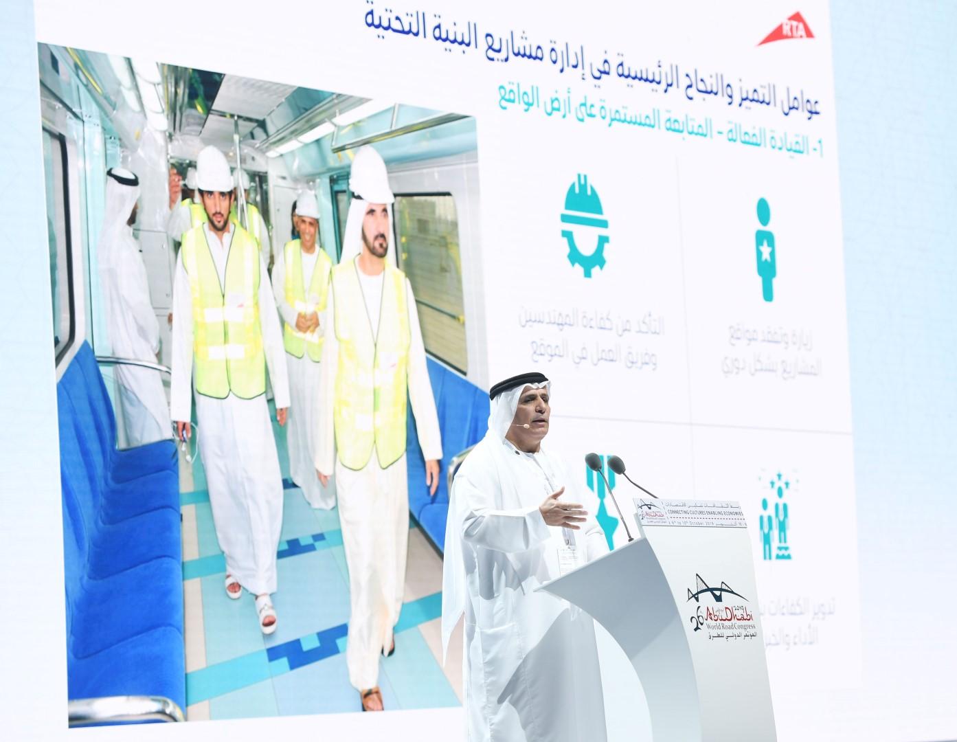 الطاير: استثمارات حكومة دبي في البنية التحتية للطرق والمواصلات وفرت 169 مليار درهم