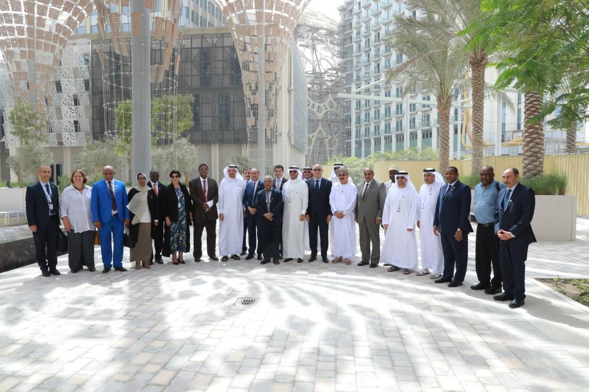 """وفد من وزراء الإسكان والتعمير العرب يزور موقع """" إكسبو دبي 2020 """""""