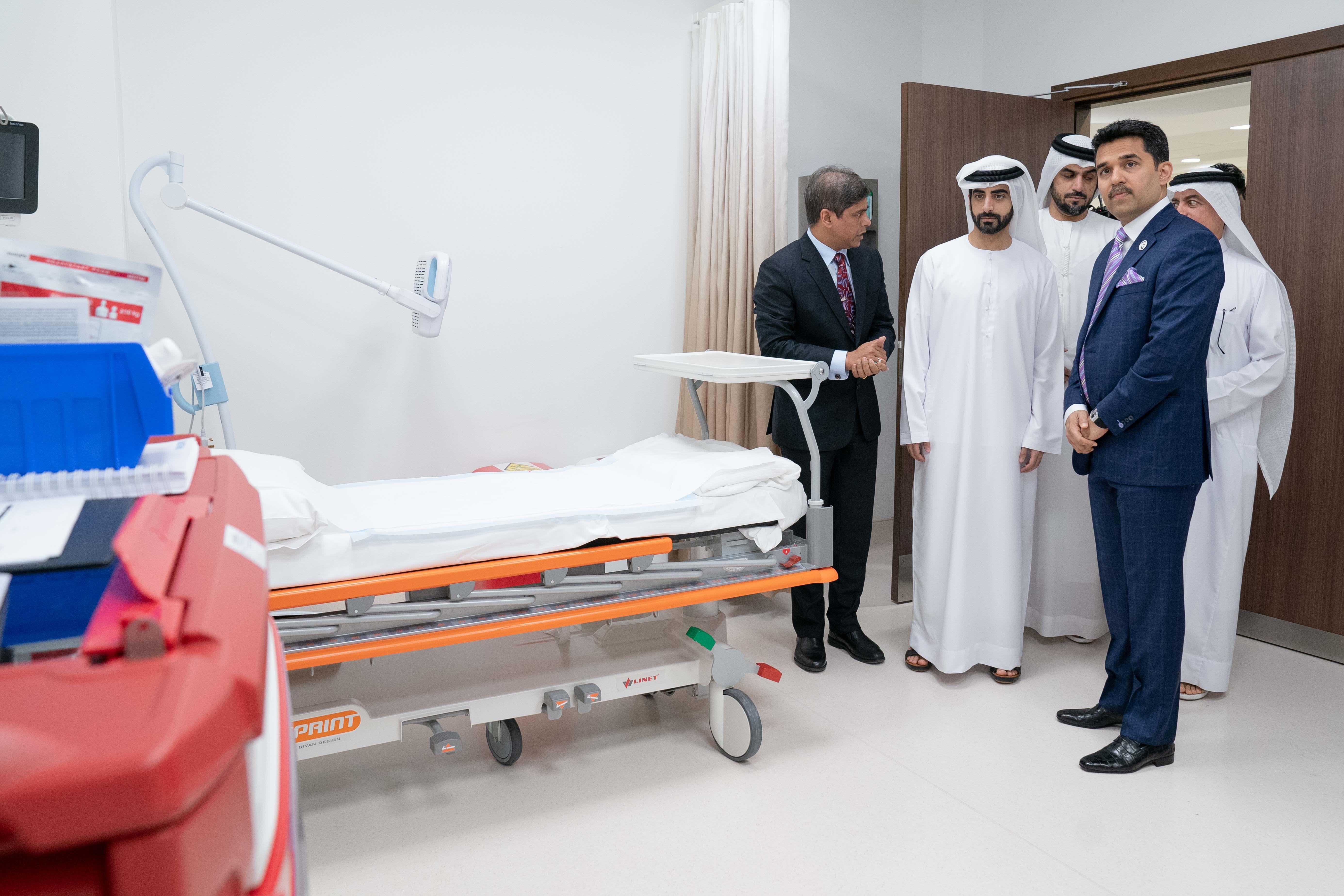 سالم بن عبدالرحمن القاسمي يفتتح مستشفى برجيل في الشارقة