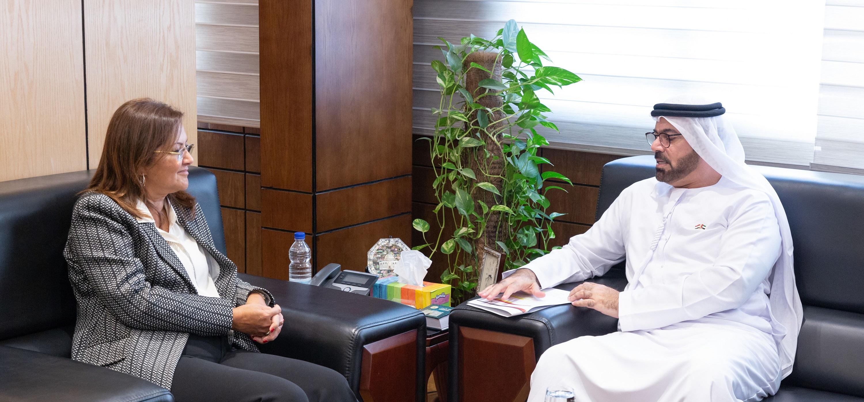 القرقاوي يبحث مع وزيرة التخطيط المصرية مستجدات الشراكة الاستراتيجية في التحديث الحكومي