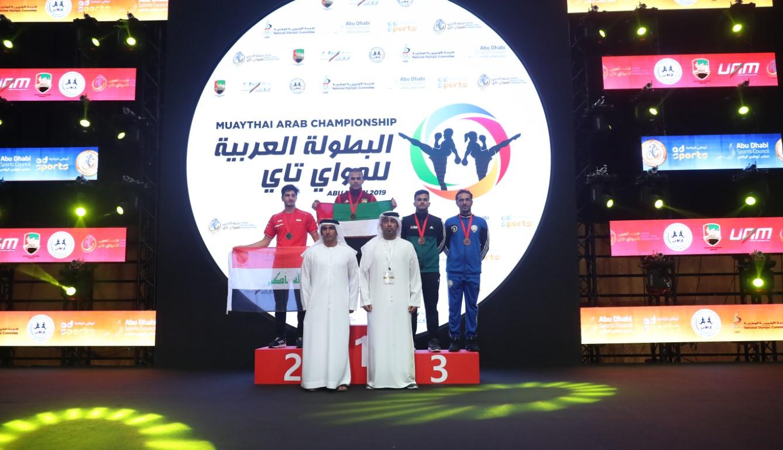 تتويج الأوائل في البطولة العربية للمواي تاي لعام 2019