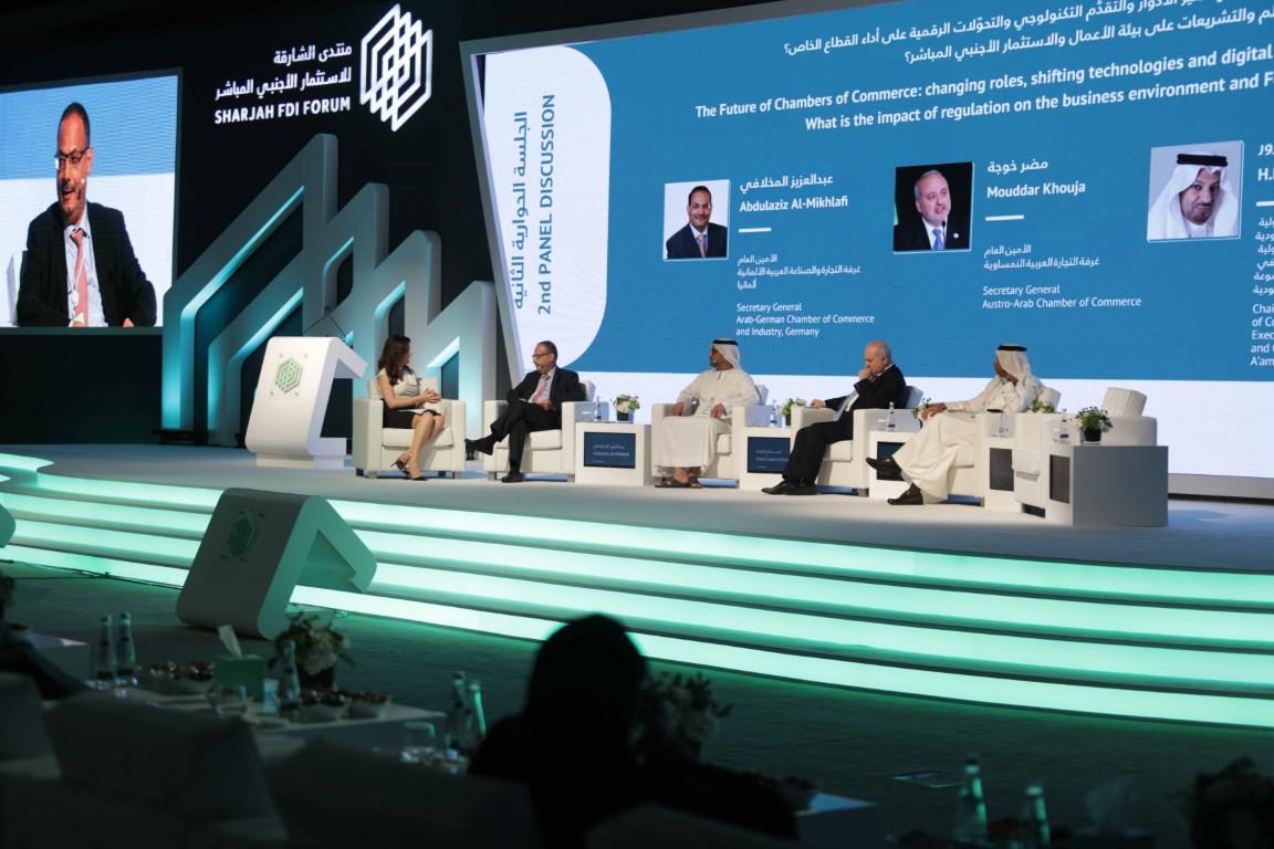 """""""منتدى الشارقة للاستثمار الأجنبي المباشر"""" ينطلق بعد غد بمشاركة 50 متحدثاً في 12 جلسة"""