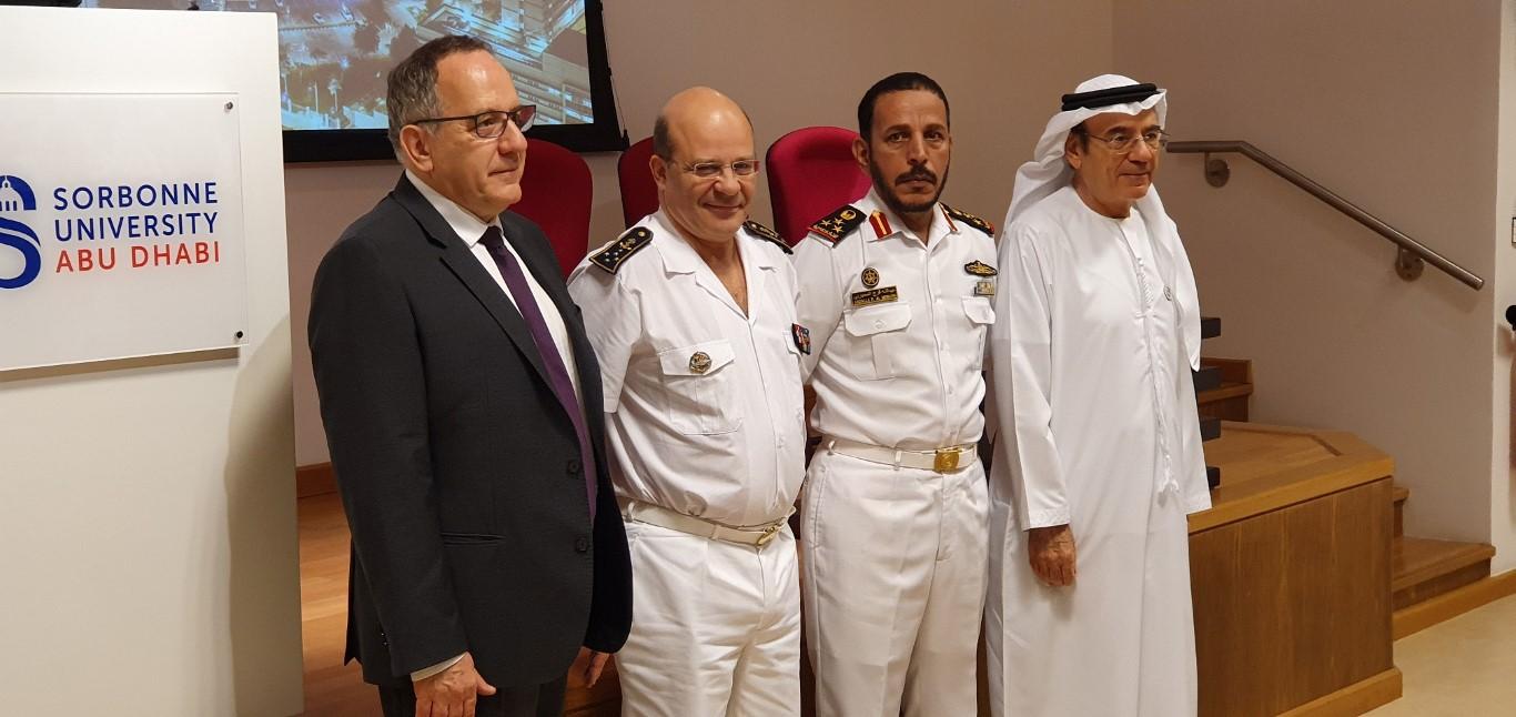 إنطلاق أعمال الدورة الاستراتيجية البحرية المتقدمة بين الامارات وفرنسا بجامعة السوربون - أبوظبي