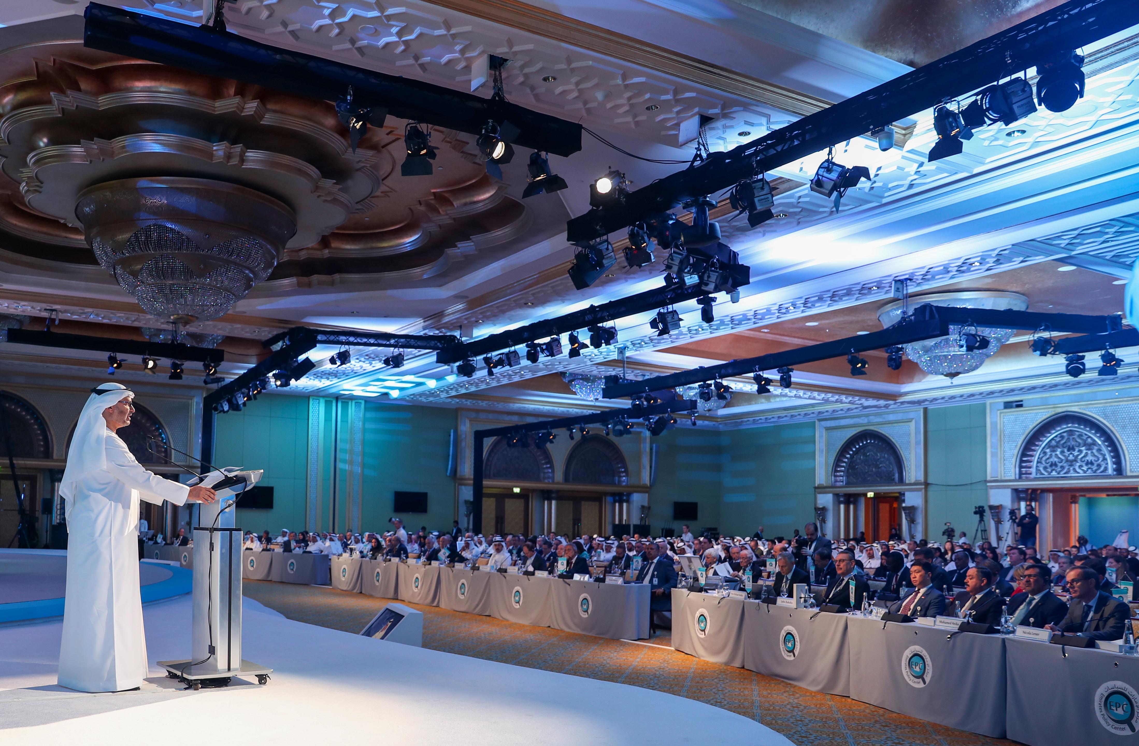 """قرقاش يستعرض التطورات الإقليمية في """"ملتقى أبوظبي الاستراتيجي """""""